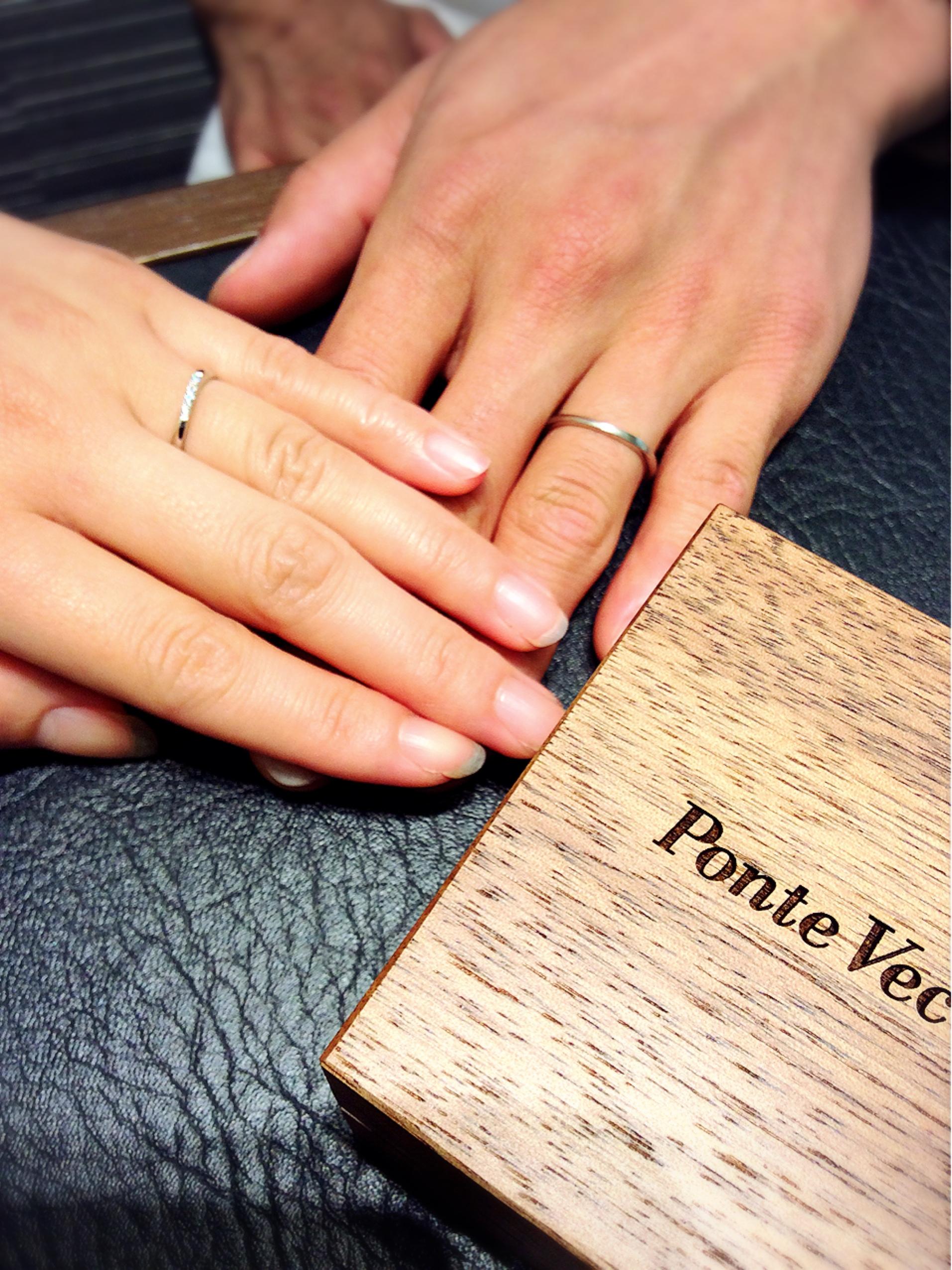 結婚指輪ポンテヴェキオのブリーザをご成約(新潟市/R様&K様)