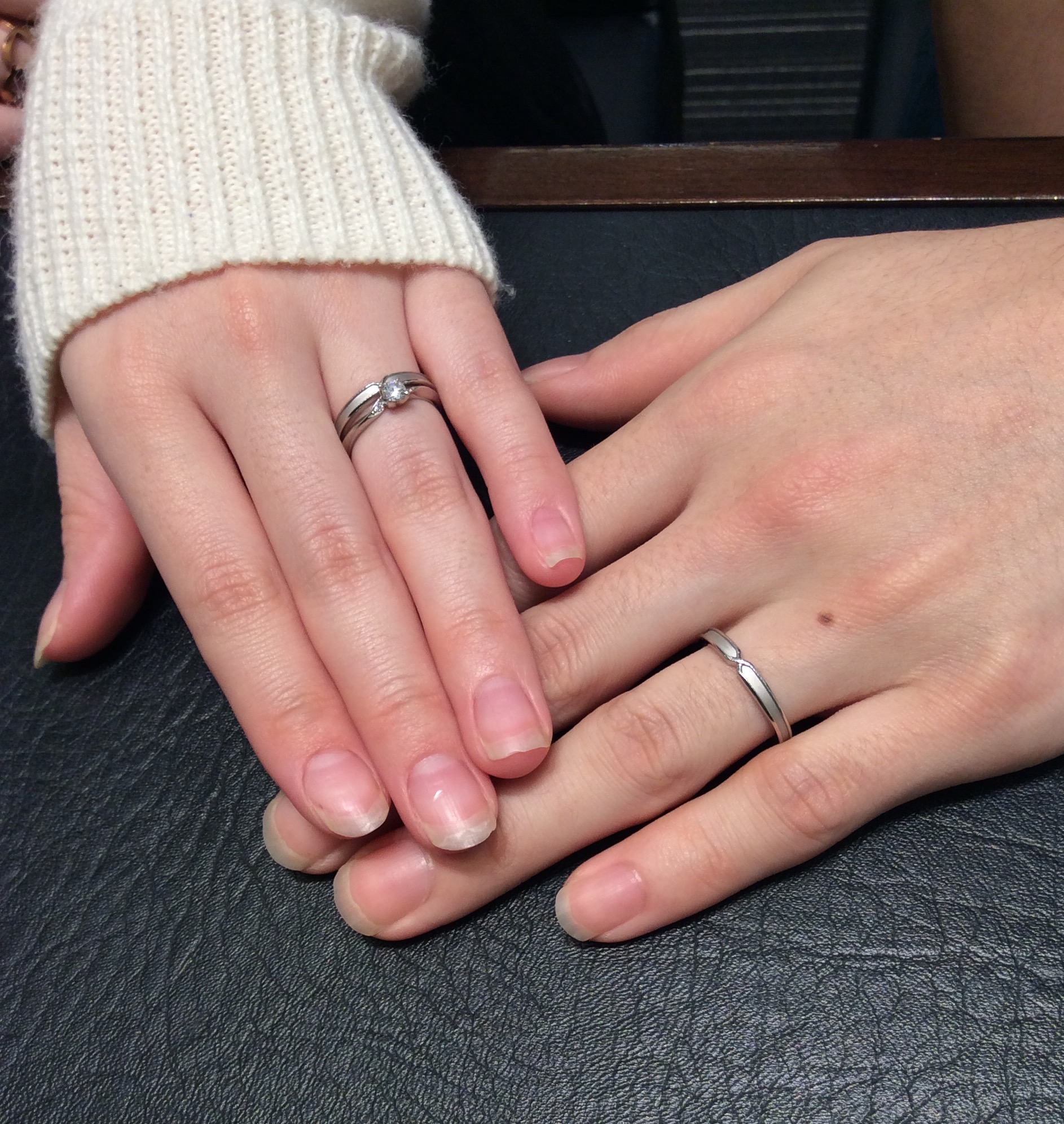 結婚指輪にも個性を☆!ポンテヴェキオのプロメッサをご成約(田上町/I様ご夫婦様)