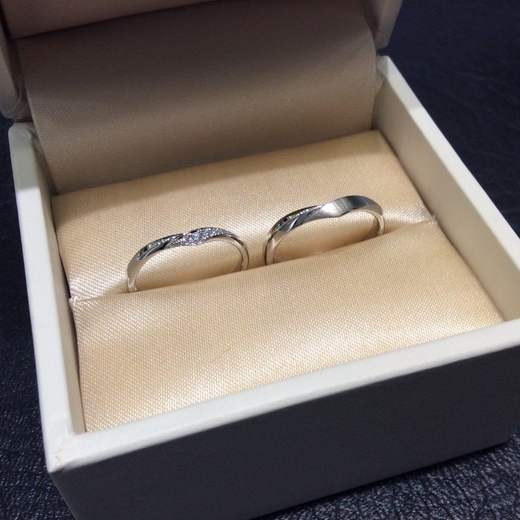 結婚指輪 アンティックの「レリュイ」をご成約(新発田市・O様ご夫婦)