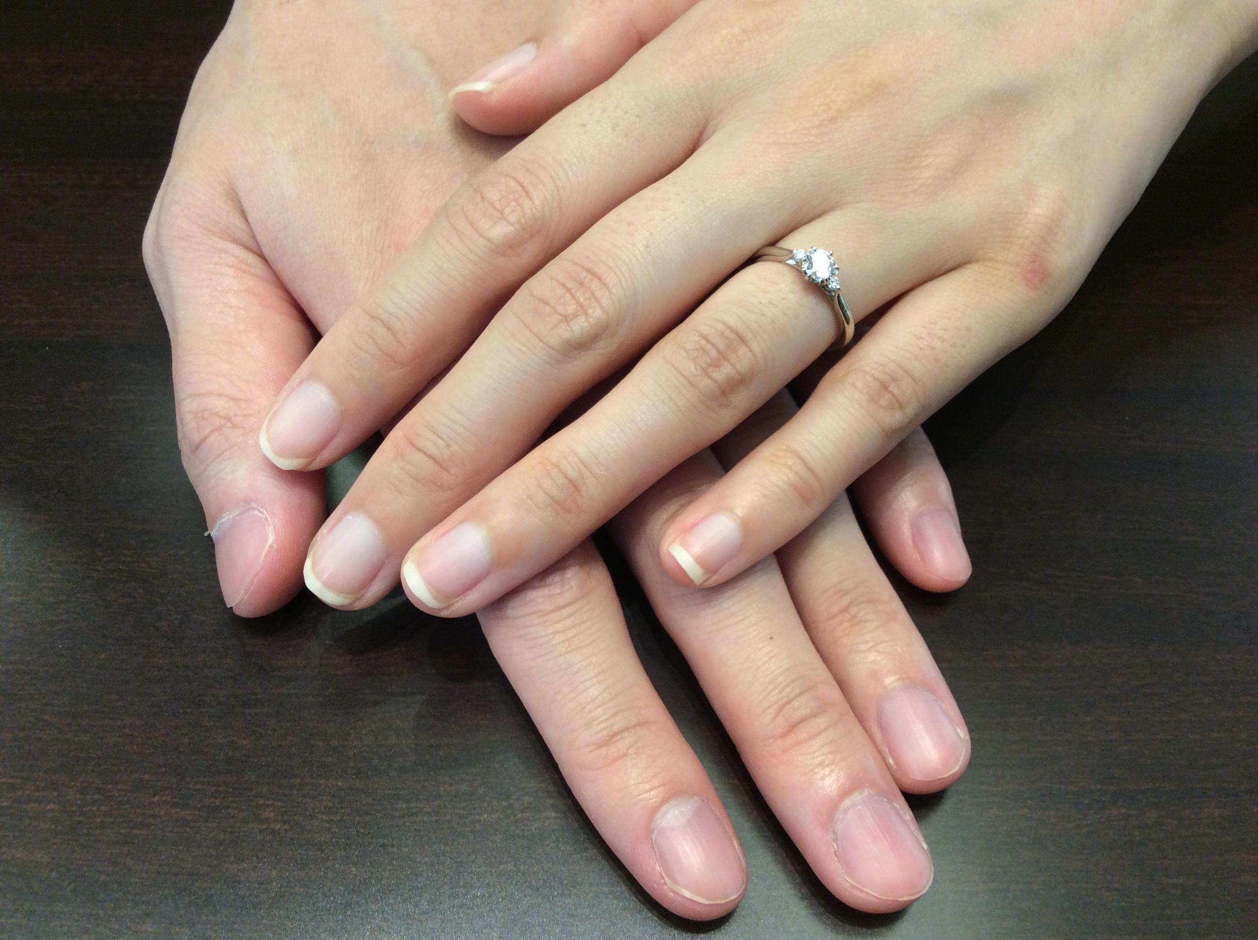 婚約指輪 繊細な職人技が光る✨俄の白鈴をお作り頂きました(魚沼市 N様ご夫婦)