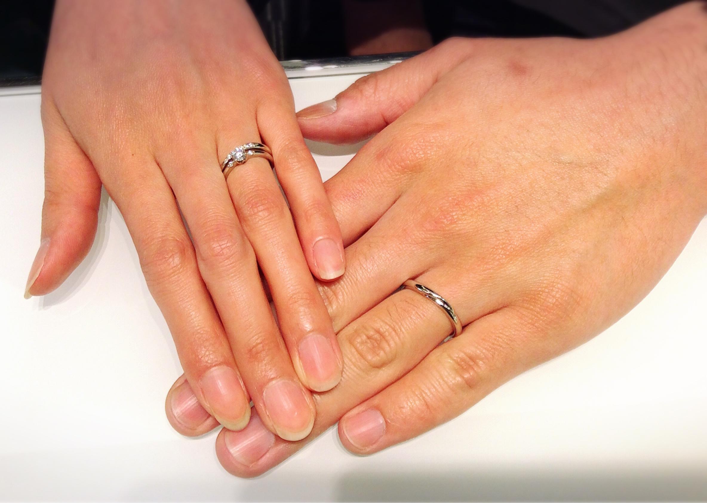 ラザールダイヤモンドの結婚指輪をご成約(長岡市/A様ご夫婦様)