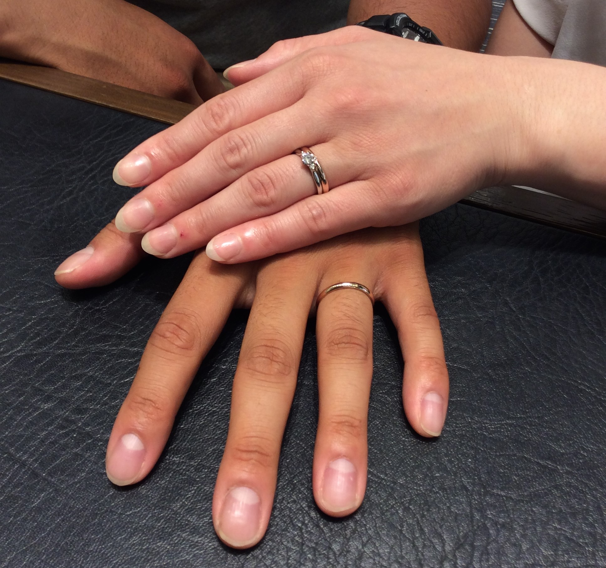 """婚約指輪 俄の""""白鈴""""&結婚指輪 ロイヤルアッシャーをご成約  (新潟市/O様&Y様)"""