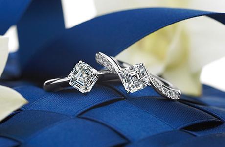 ロイヤルアッシャーカット 婚約指輪