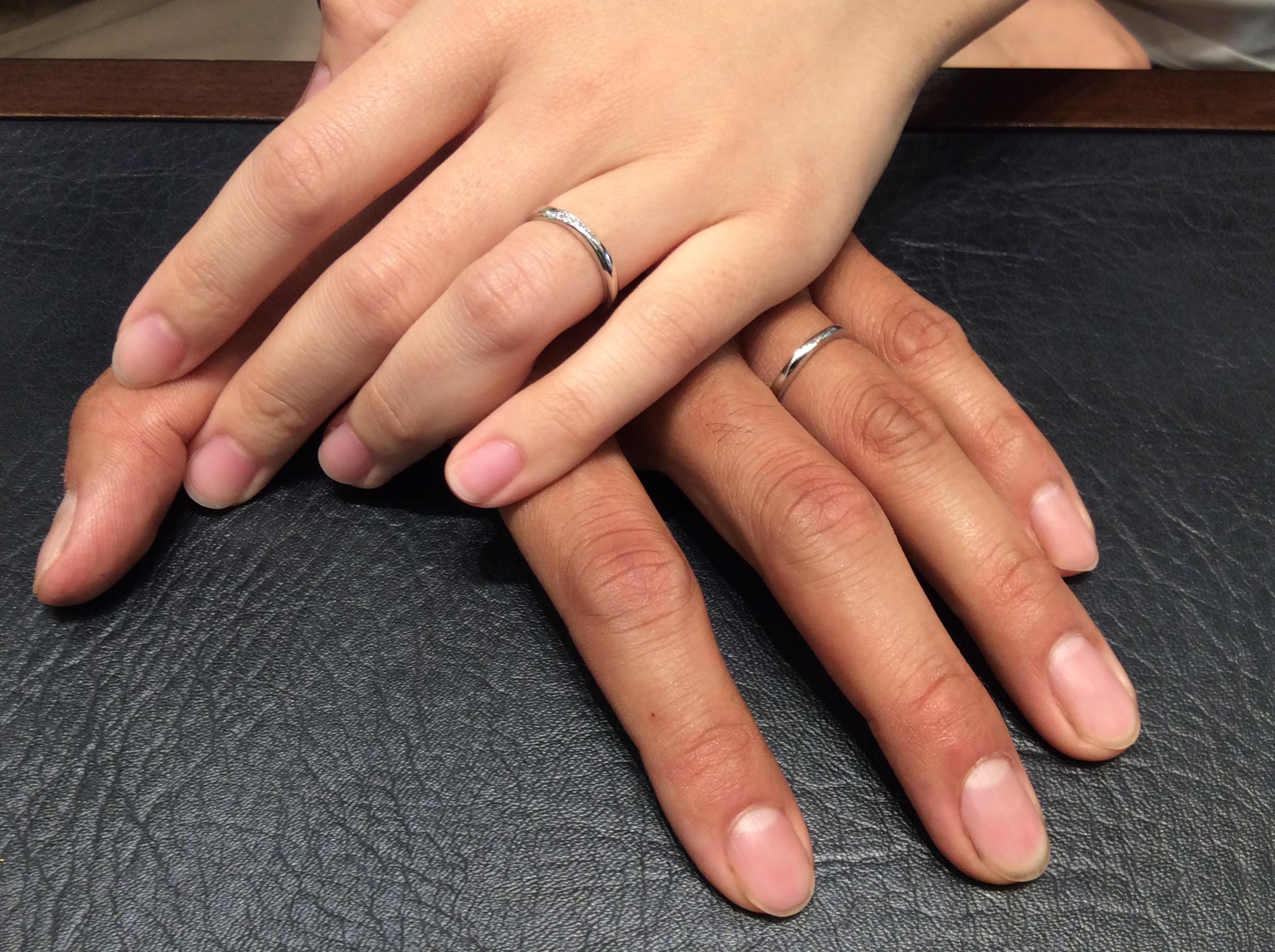 結婚指輪 俄の朝葉をお渡しさせて頂きました (魚沼市・十日町市/Y様ご夫婦)