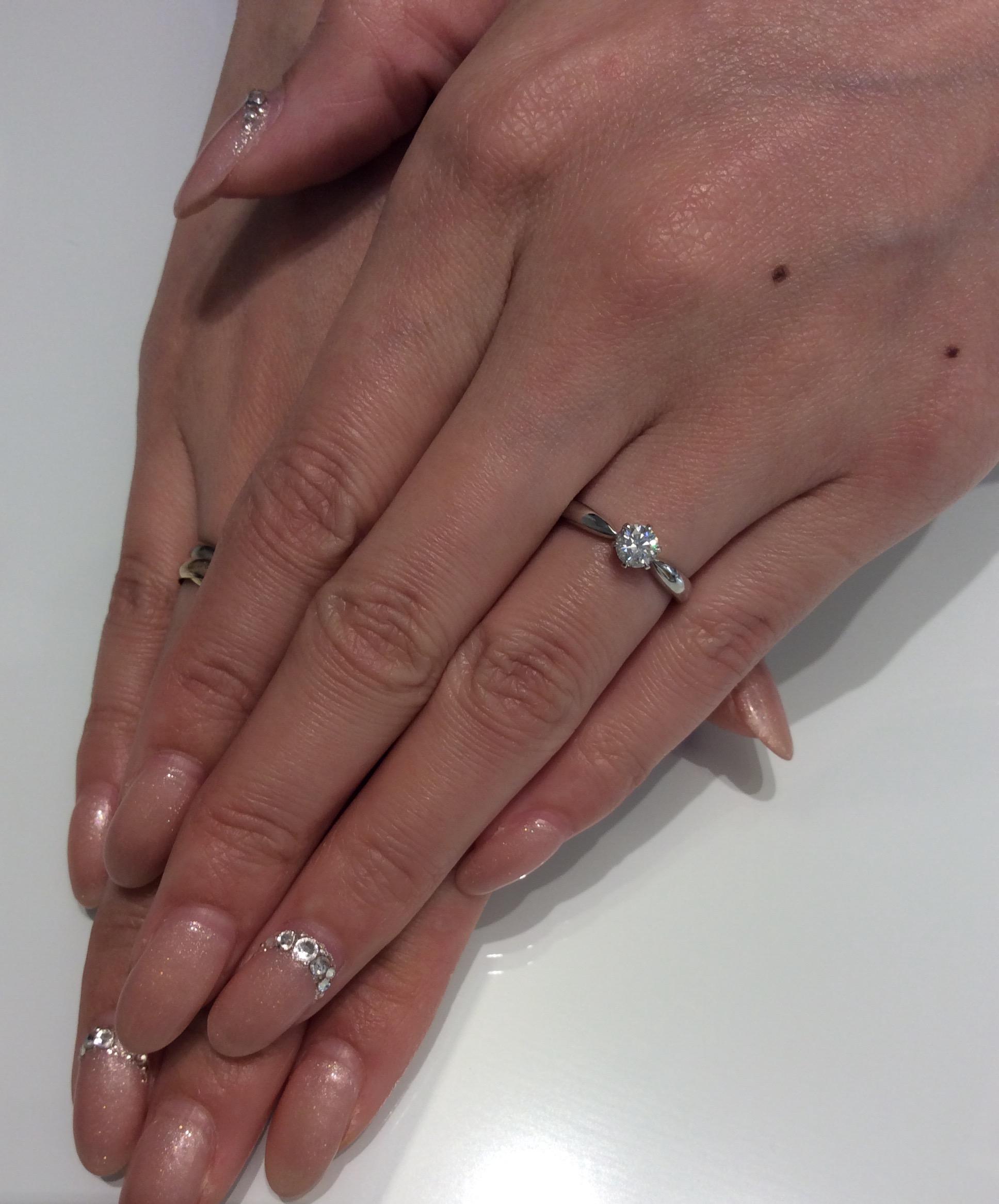 美しい輝き✨ロイヤルアッシャーのご婚約指輪をご成約(新潟市/F様・K様)