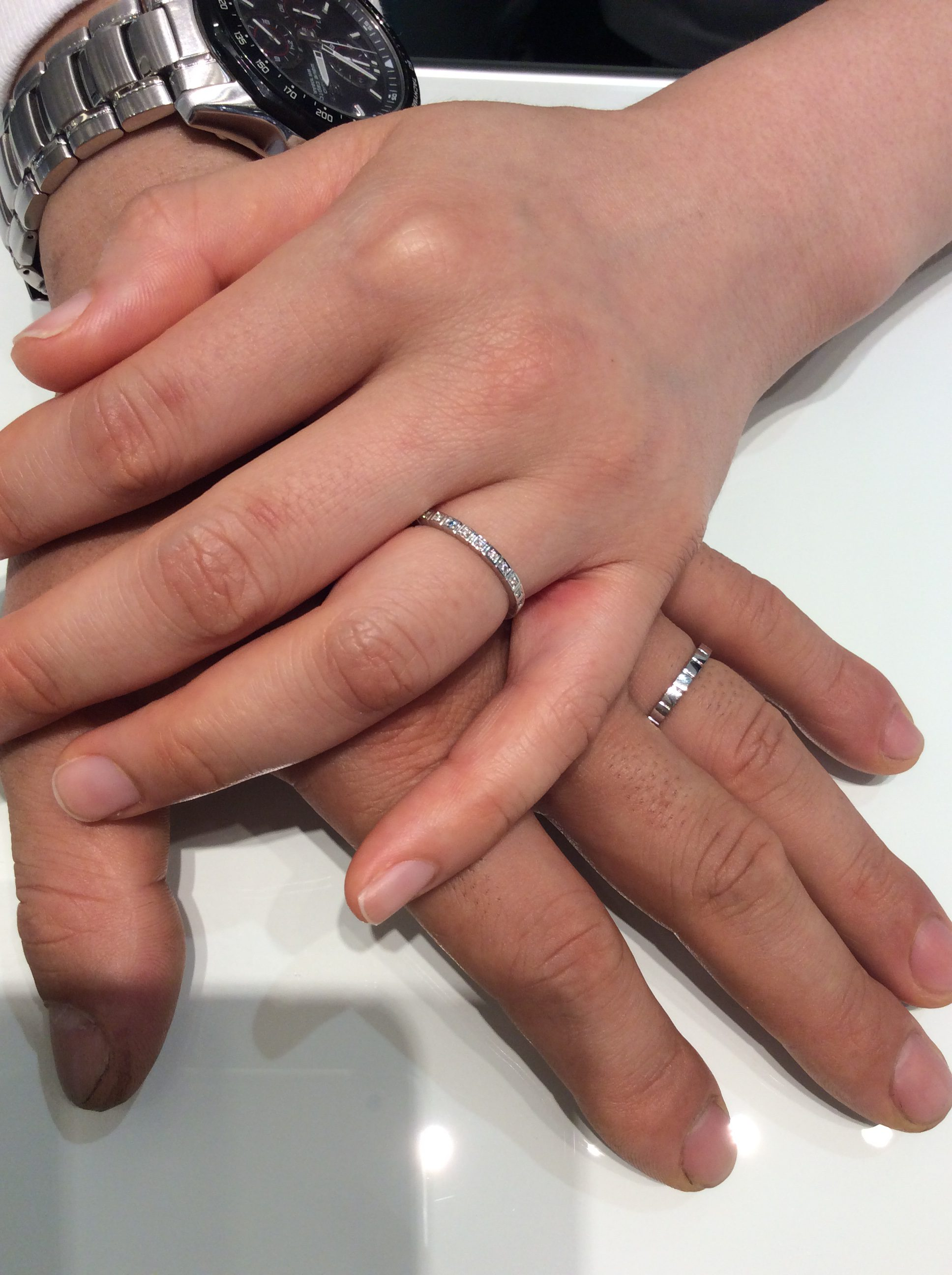 結婚指輪 スイートブループラス(小千谷市/T様ご夫婦)
