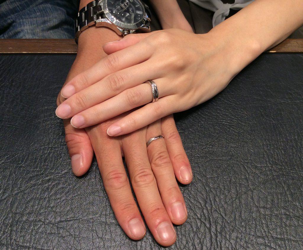 """婚約指輪 俄(にわか)の""""初桜""""&結婚指輪 アンティックの""""レリュイ""""をご成約 (胎内市/K様ご夫婦)"""