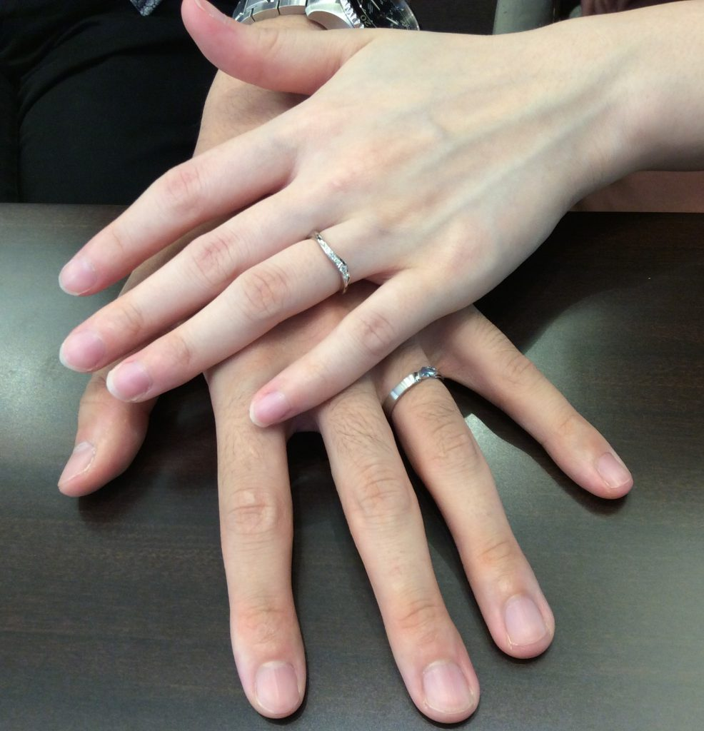 ずっと大切にしたい!俄(にわか)の結婚指輪『唐花』(長岡市/N様ご夫婦様)