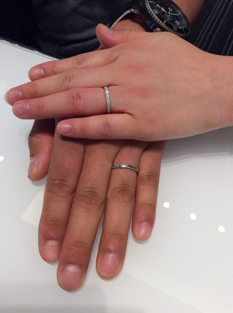 結婚指輪 ポンテヴェキオの「ミルアモーレ」をご成約 (新潟市/羽深 遼様&彩香様)