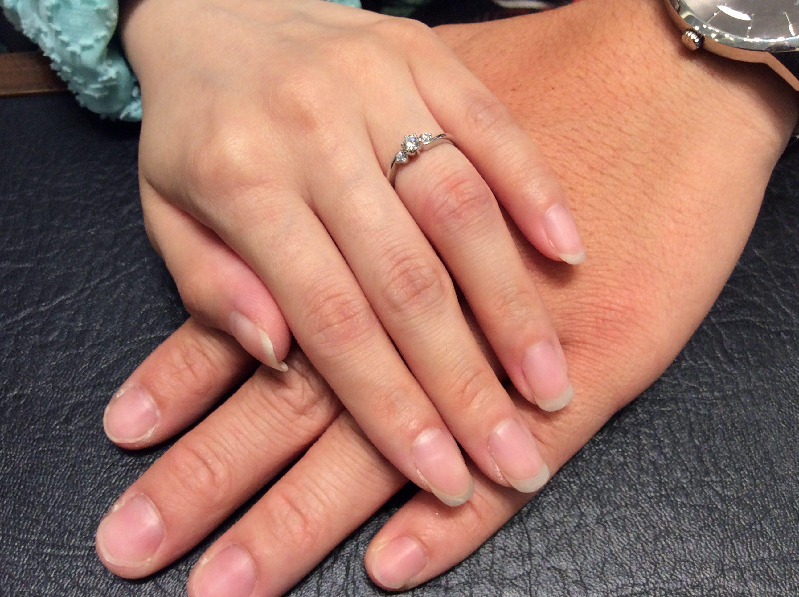婚約指輪 ロイヤルアッシャーダイヤモンドの伝説モデル💎(新潟市/Y様&W様)