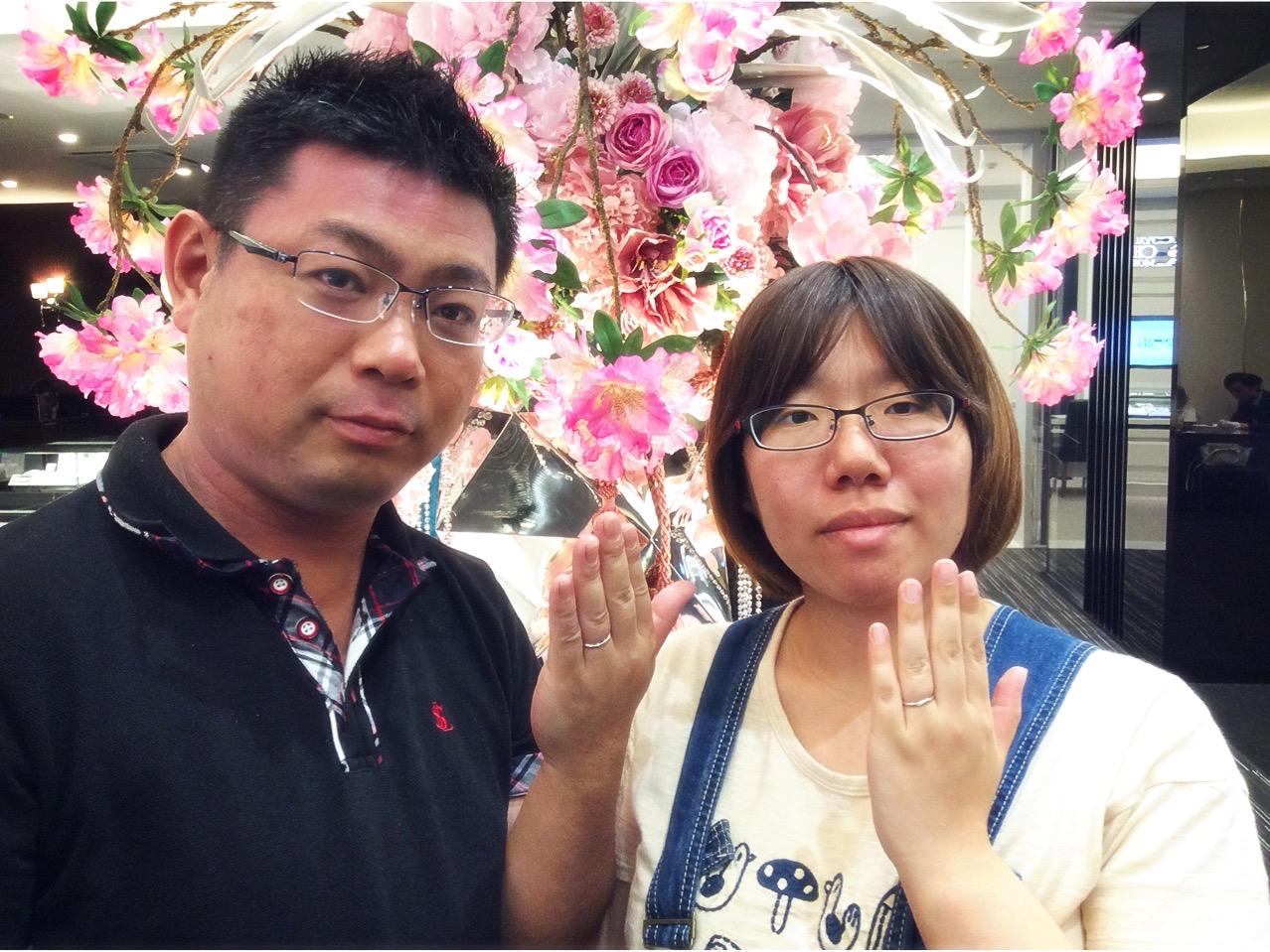 指につけたフィット感が抜群!俄の結婚指輪『ことのは』(新潟市/T様ご夫婦様)
