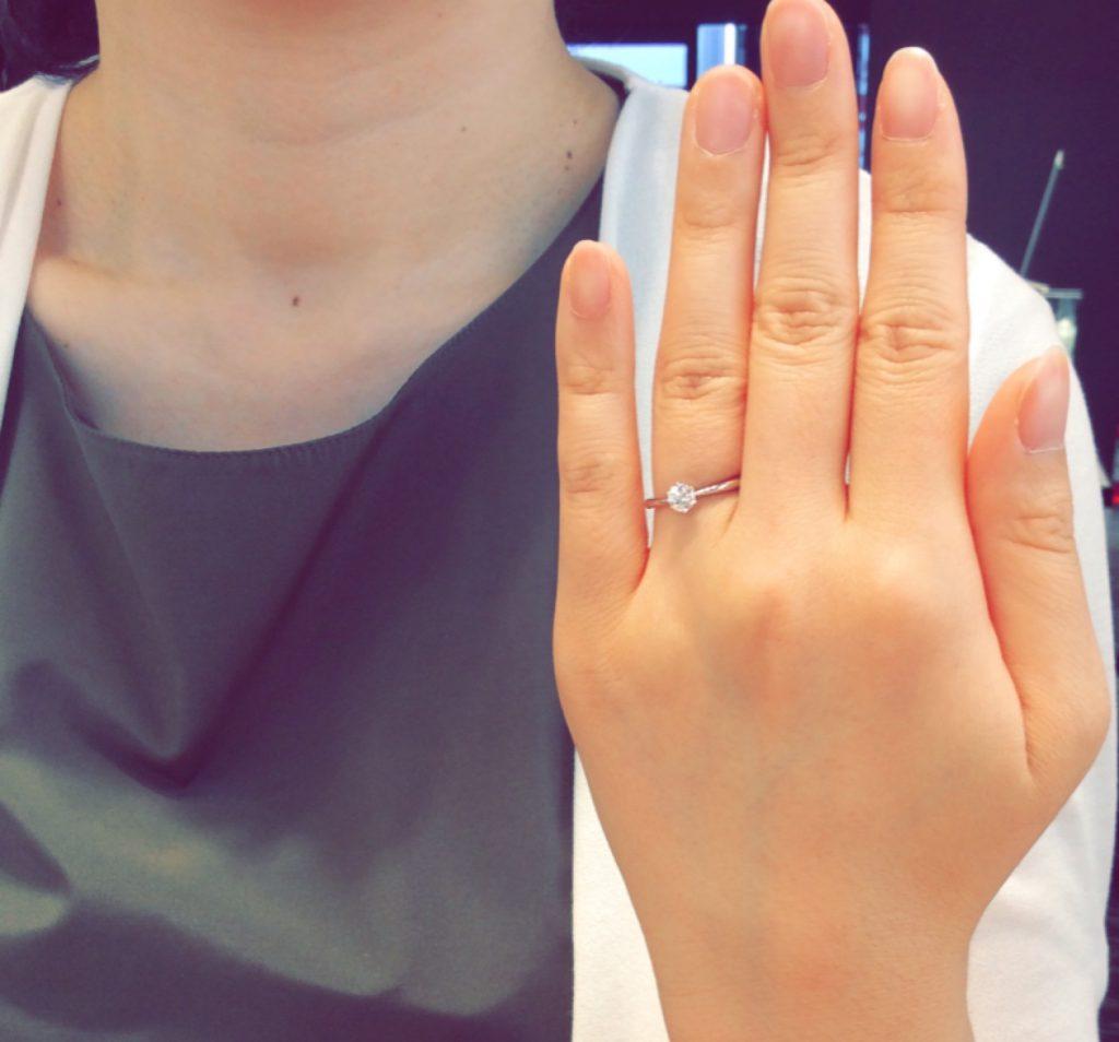 白く上品な輝き💎ロイヤルアッシャーのご婚約指輪(新潟市東区・長岡市/Y様・J様)