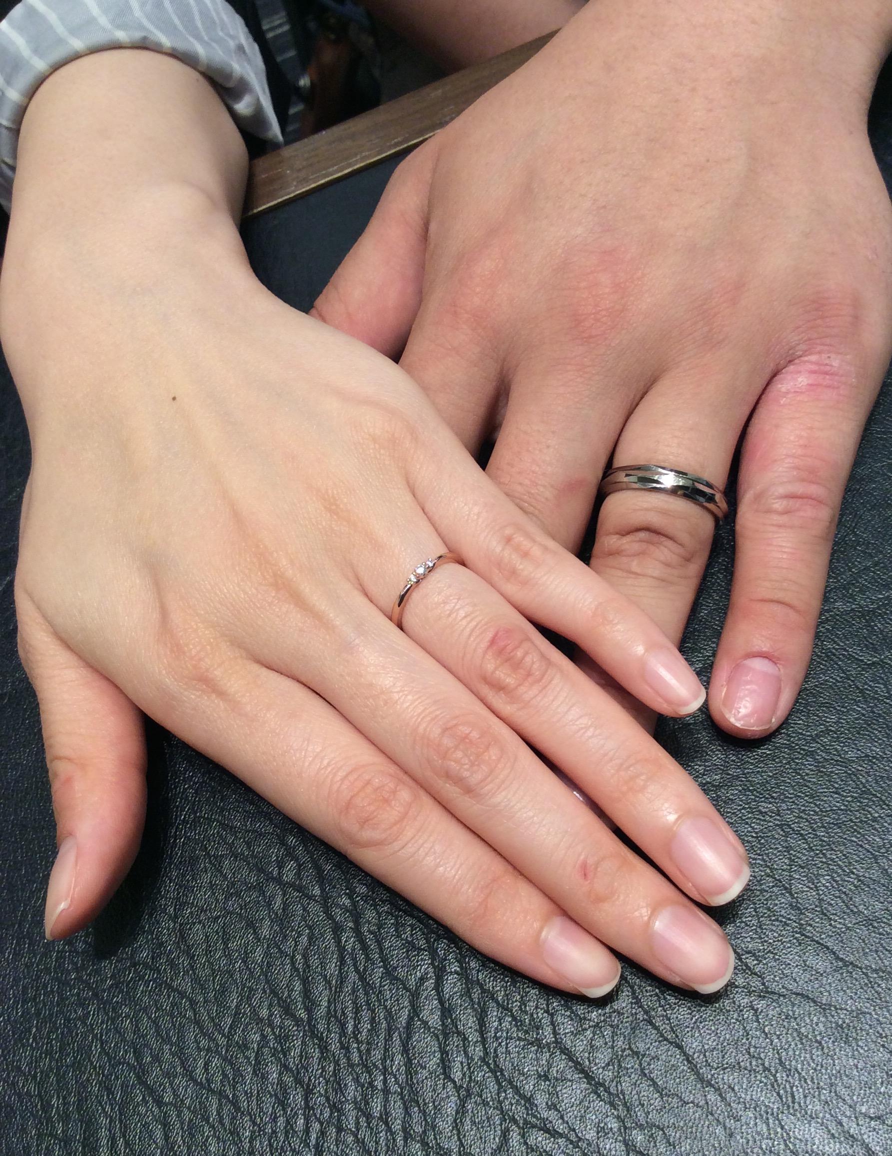 """結婚指輪 ニューヨークニワカの""""リューズ""""・ルシエの""""ロズレ""""をご成約(新潟市/M様・Y様)"""