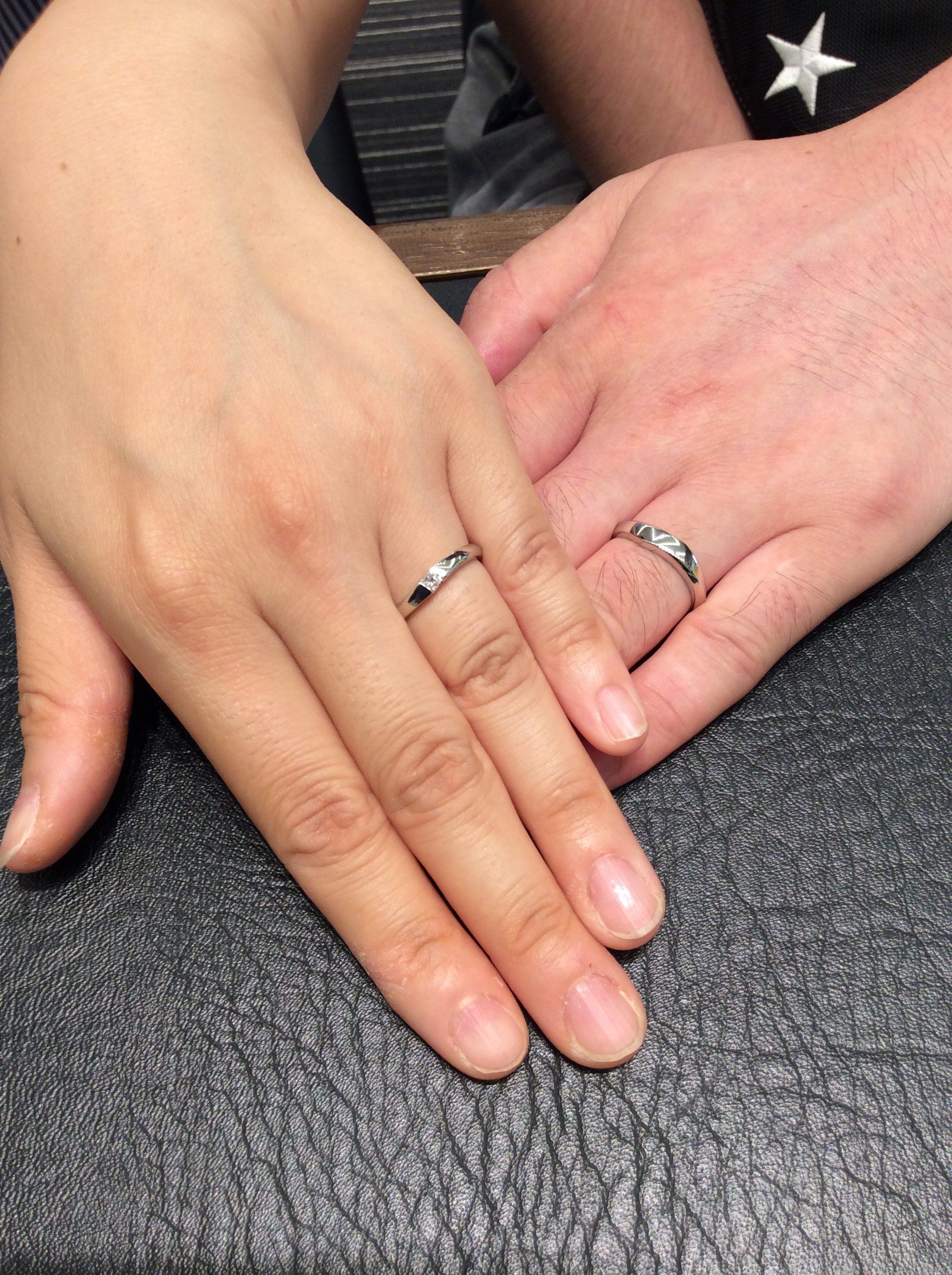 LUCIE(ルシエ)の結婚指輪『ミーティア』をご成約(新潟市/倉田健吾様・栞様)