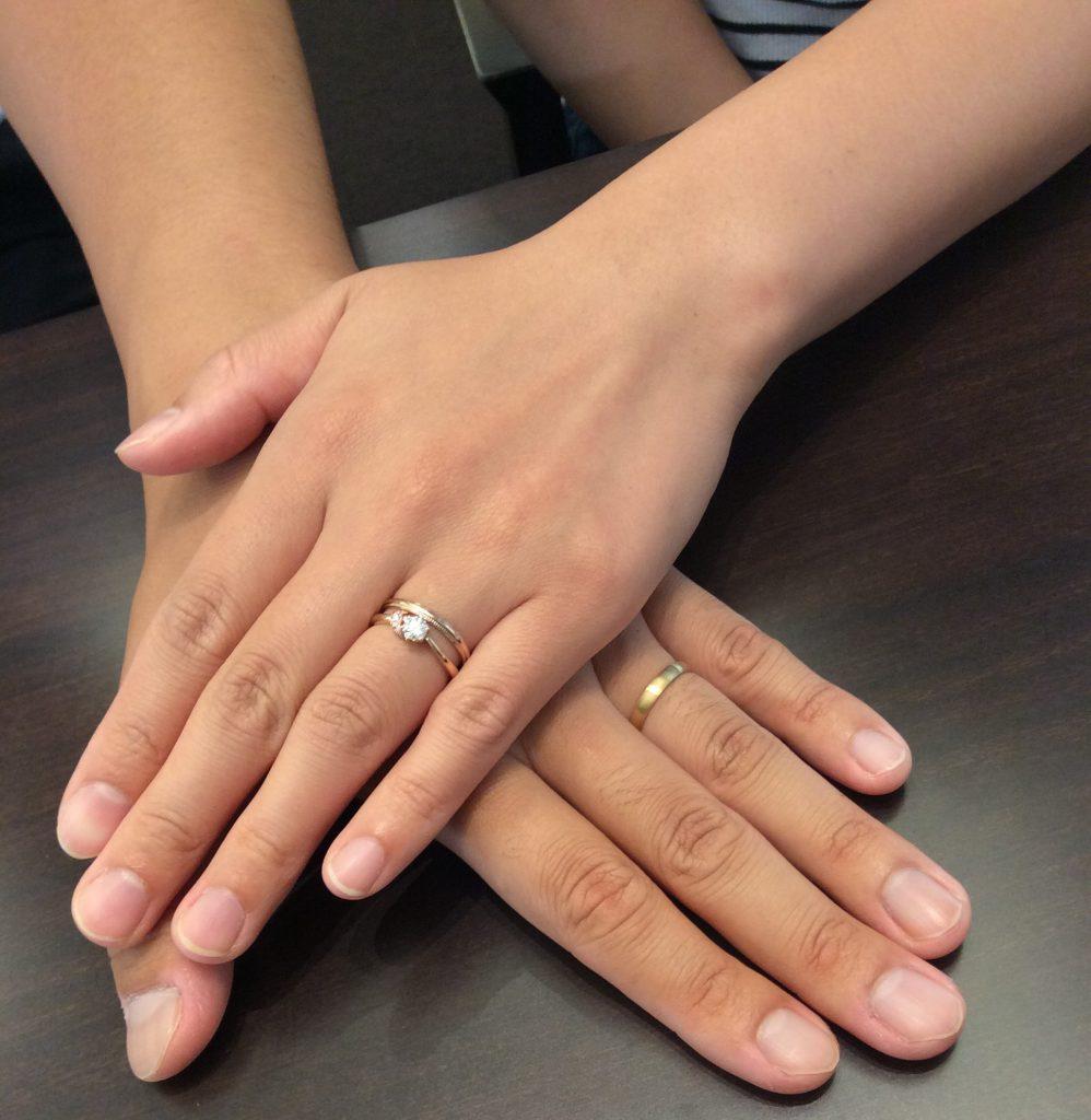 俄(にわか)の結婚指輪「ことほぎ」(新潟市江南区/Y様ご夫婦様)