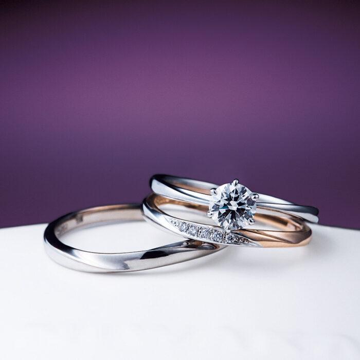 俄(にわか)婚約指輪 花雪 結婚指輪 雪佳景