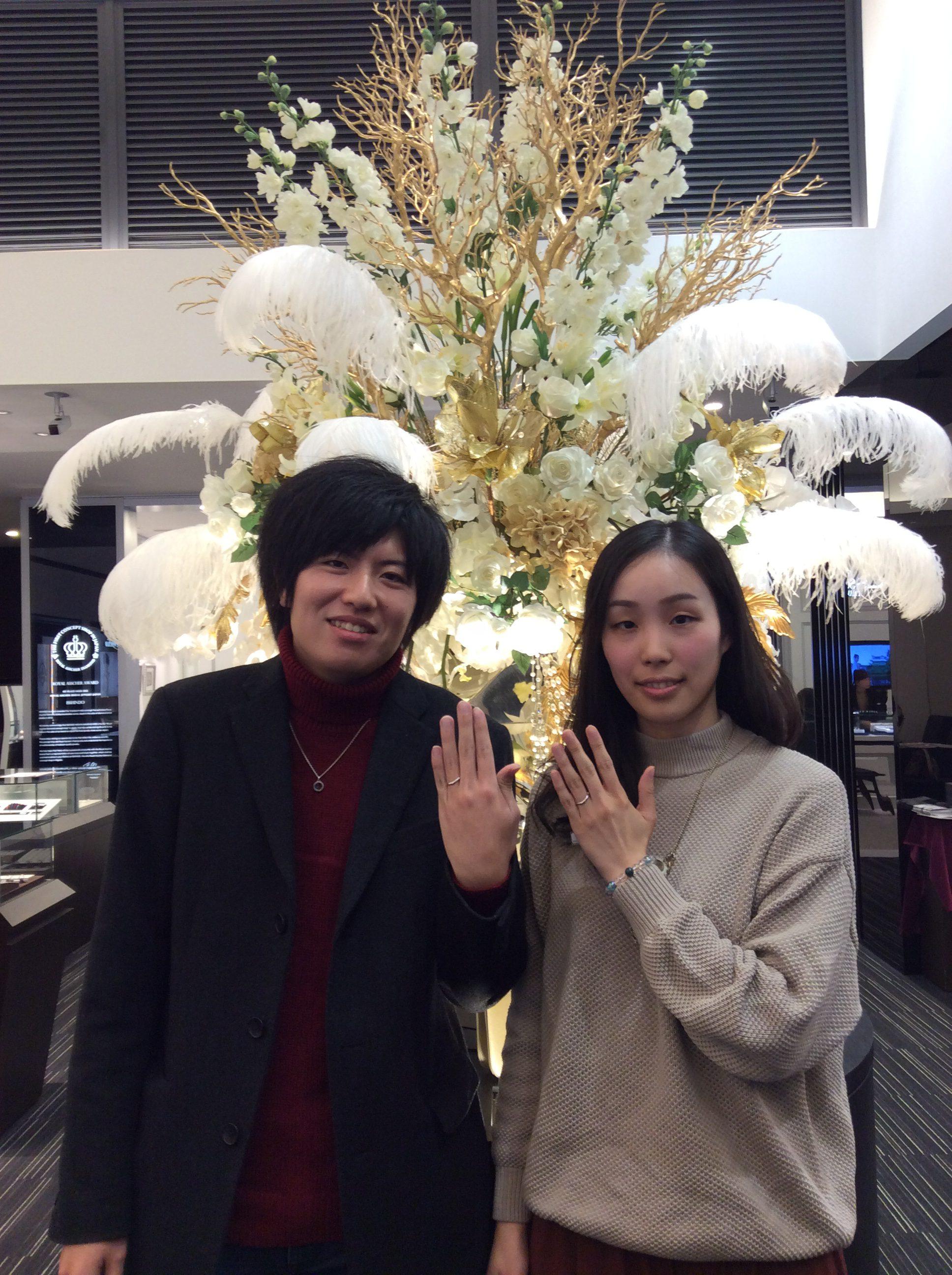 結婚指輪 俄(にわか)の「月の雫」をご成約(新潟市秋葉区/G様・S様)