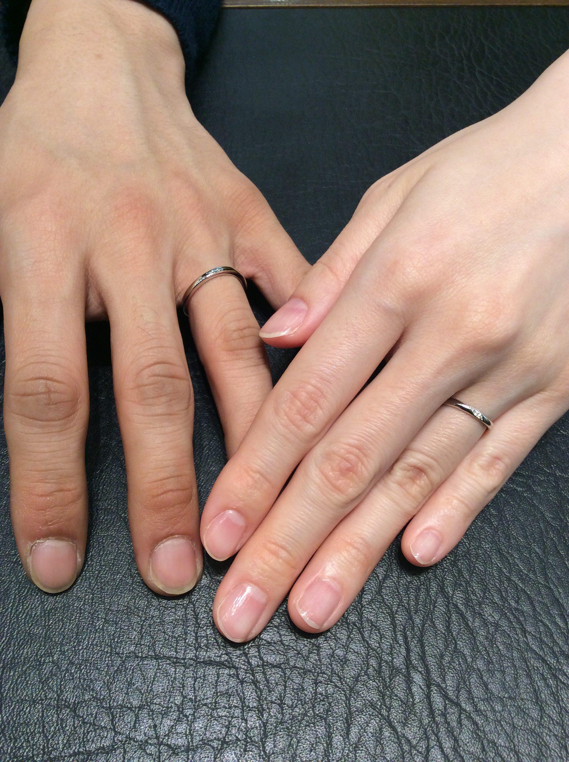 幸せの着け心地 カフェリングの結婚指輪『リュート』(新潟市江南区/I様ご夫婦様)