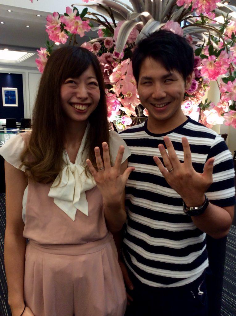 サムシングブルーの結婚指輪をご成約(新潟市中央区/U様ご夫婦様)