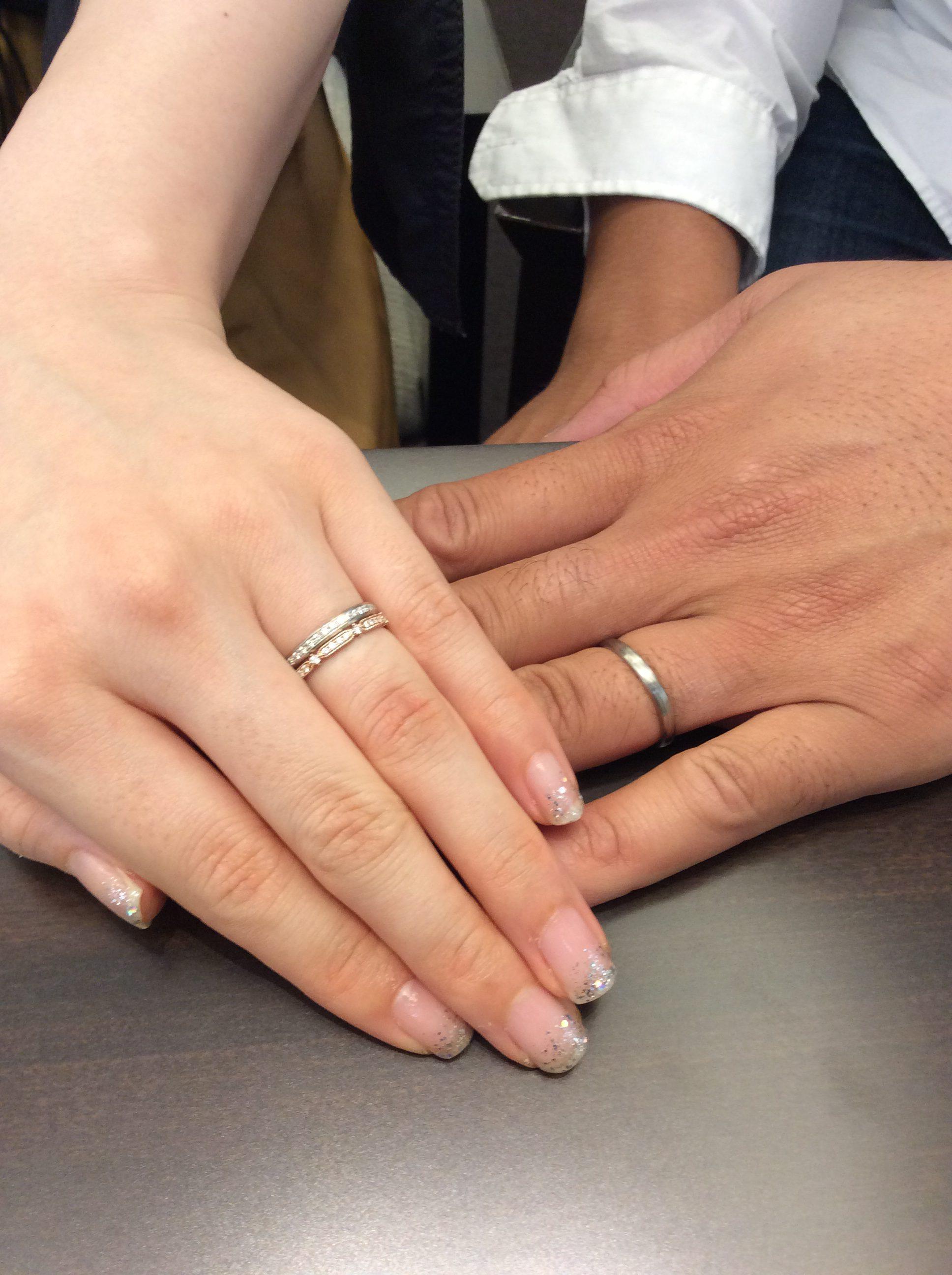 途切れない木目模様の結婚指輪「長閑」をご成約(新潟市/S様・M様)