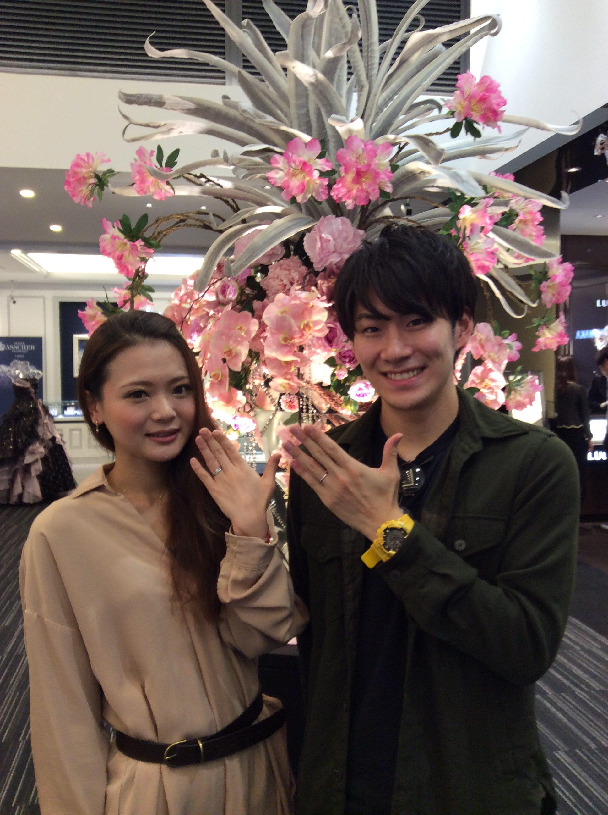 ロイヤルアッシャーの結婚指輪(新潟市中央区/T様・N様)