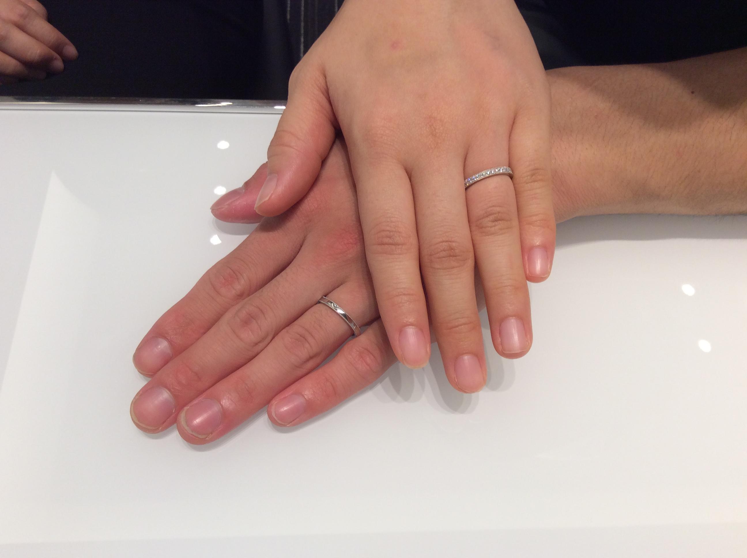 ミル打ちが可愛い結婚指輪❤️ポンテヴェキオ「ミルアモーレ」(長岡市/T様ご夫婦)