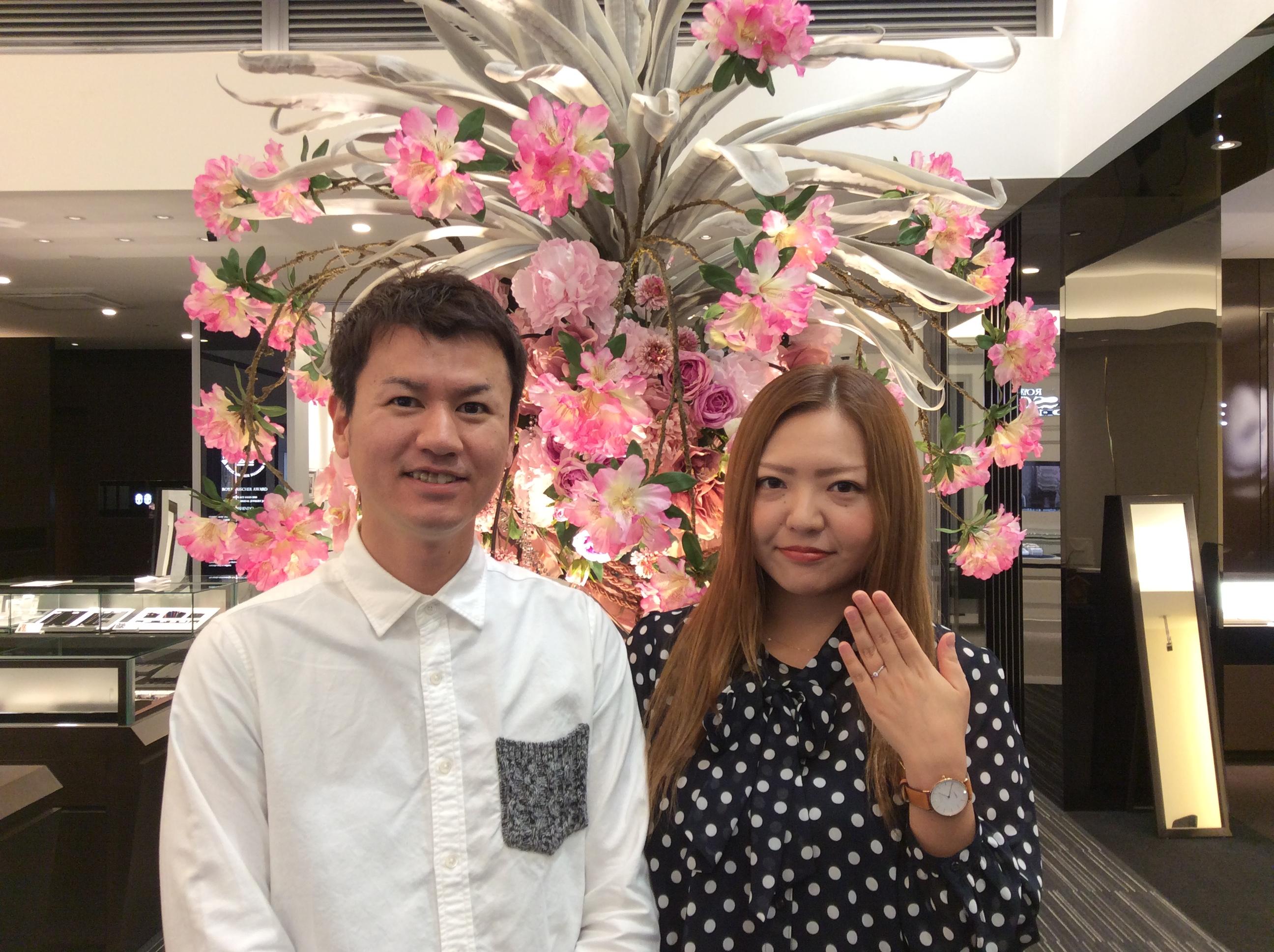 俄の婚約指輪「唐花」ご納品致しました(新潟市/S様・K様)