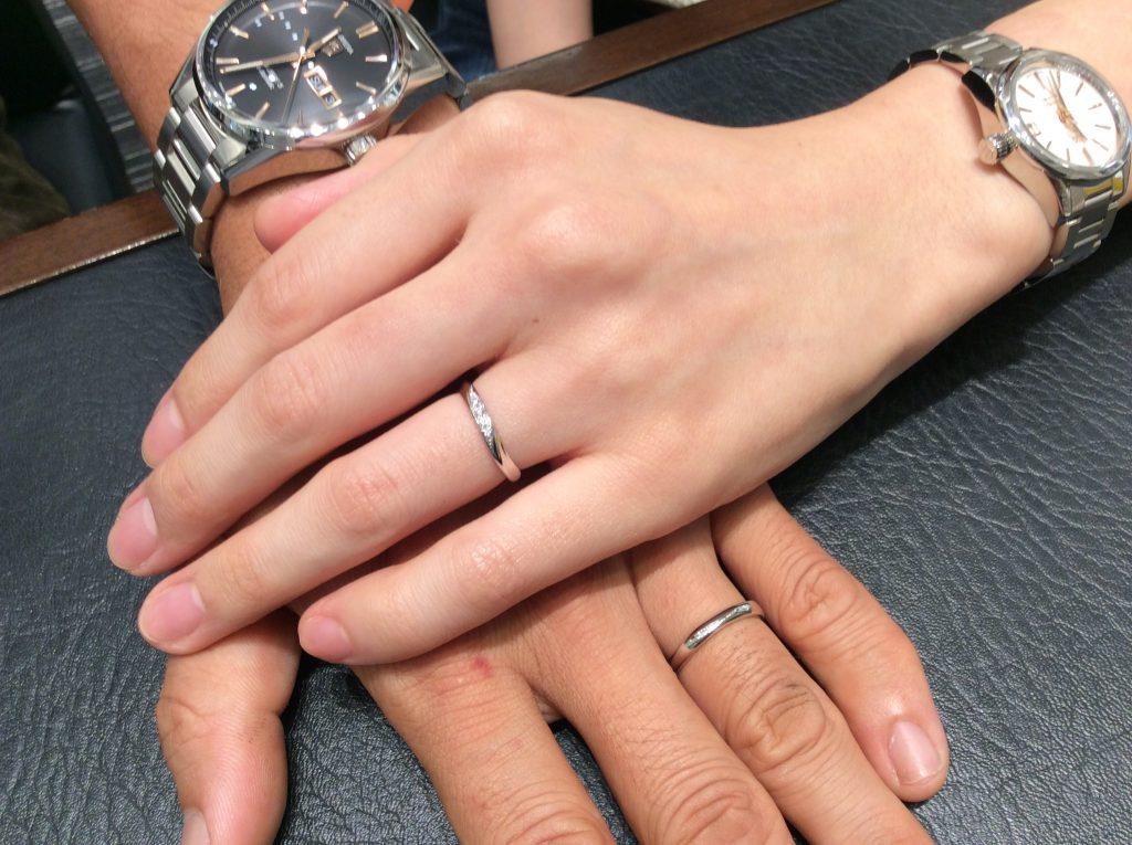 ルシエの結婚指輪『リファージュ』&ロイヤルアッシャーの結婚指輪をご成約(上越市/T様・W様)