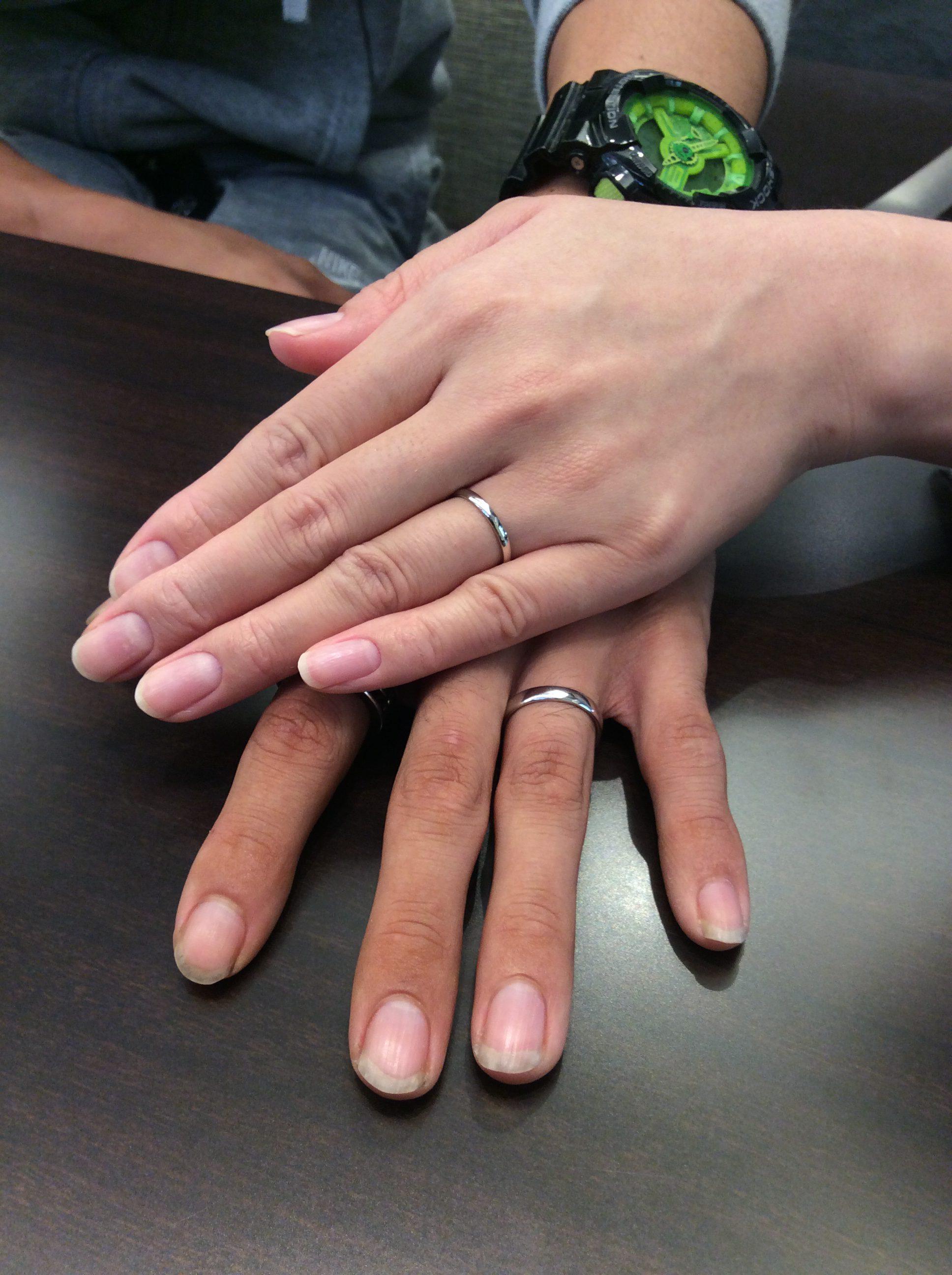 幅を変えられる!俄(にわか)の結婚指輪「ことほぎ」をご成約(新発田市/I様ご夫婦様)
