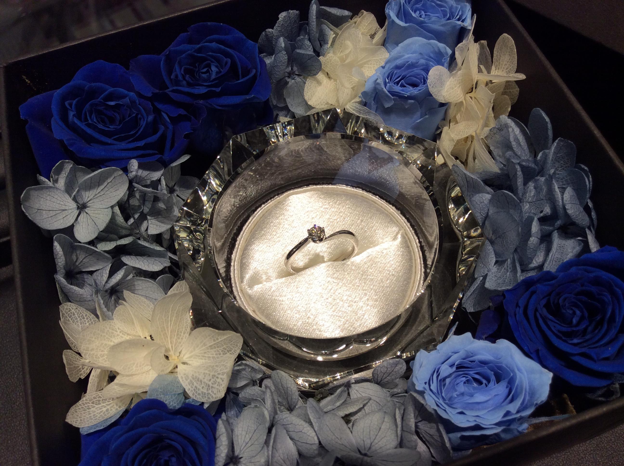 ラザールダイアモンドの婚約指輪をご納品致しました。(柏崎市・I様)