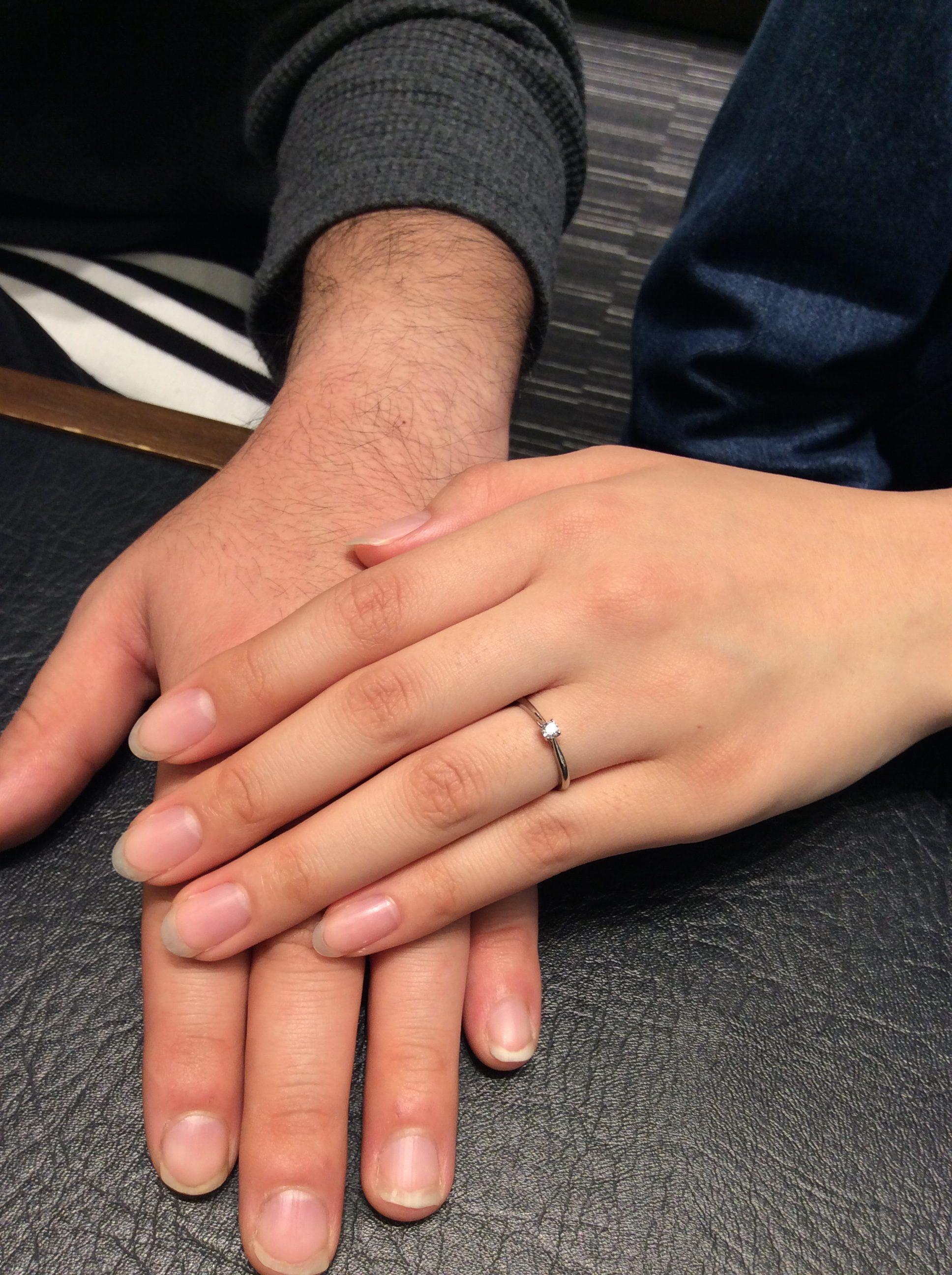 フィット感最高💘俄(にわか)の婚約指輪『ことのは』をご成約(十日町市/大津俊也様・庭野千里様)