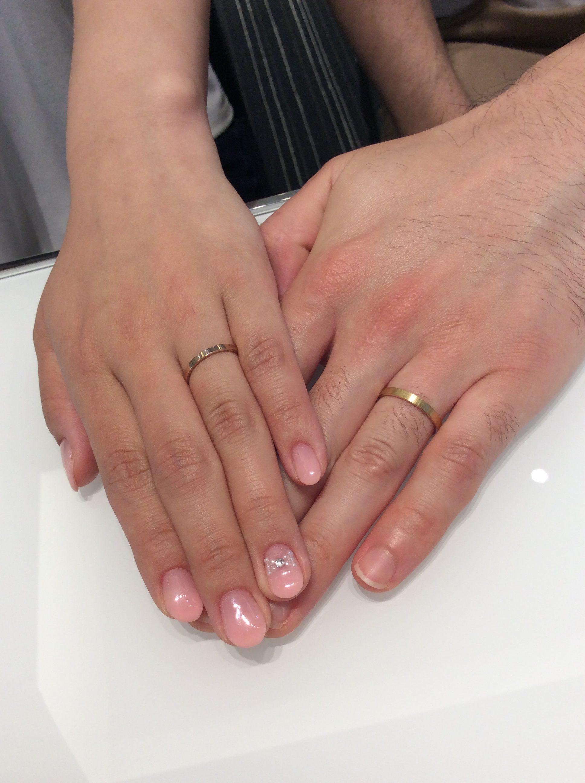 結婚指輪 俄(にわか)の「ことほぎ」をご成約 (出雲崎/M様ご夫婦)