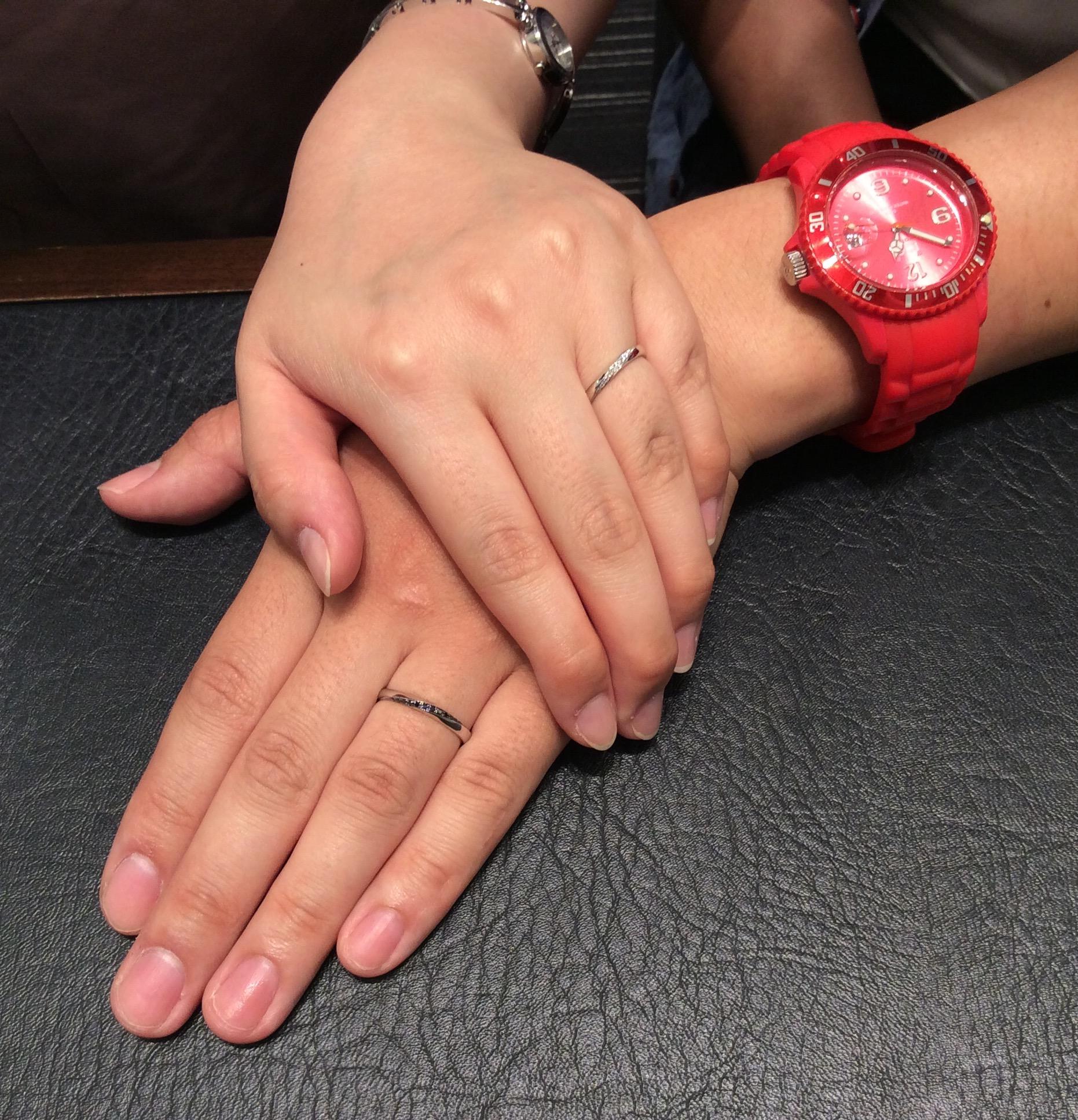 ビビッときた!結婚指輪💕Ponte Vecchio「リンコントロ」(長岡市/T様ご夫婦様)