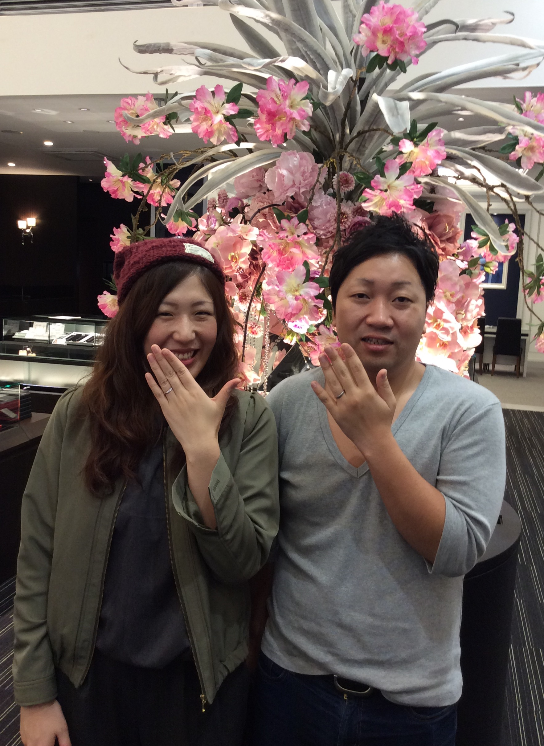 カフェリングの結婚指輪「パナシュ」に一目惚れ💘(燕市/T様ご夫婦)