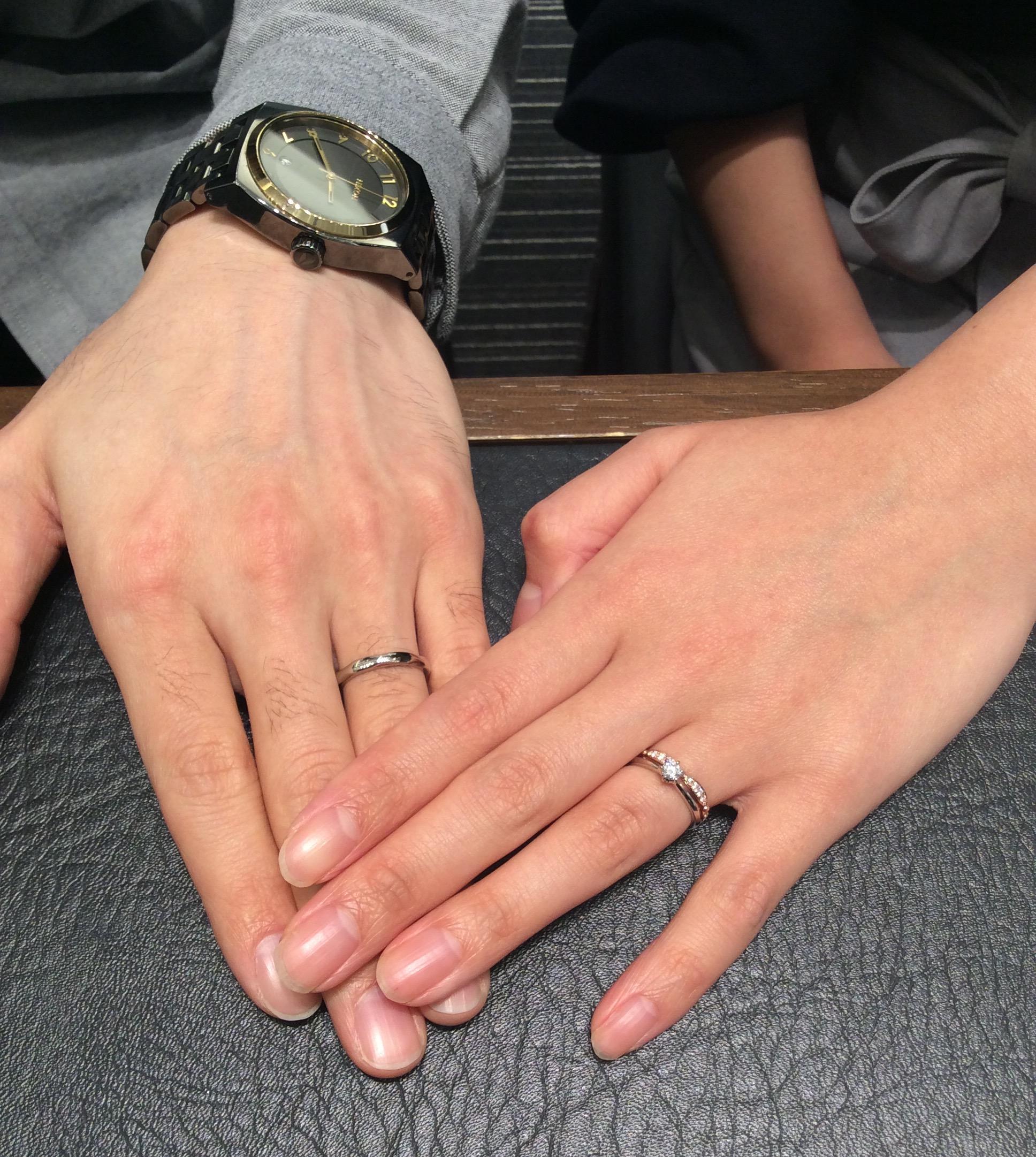 ルシエの婚約指輪「ノーブル」&結婚指輪「アリア」✨(柏崎市/T様・S様)