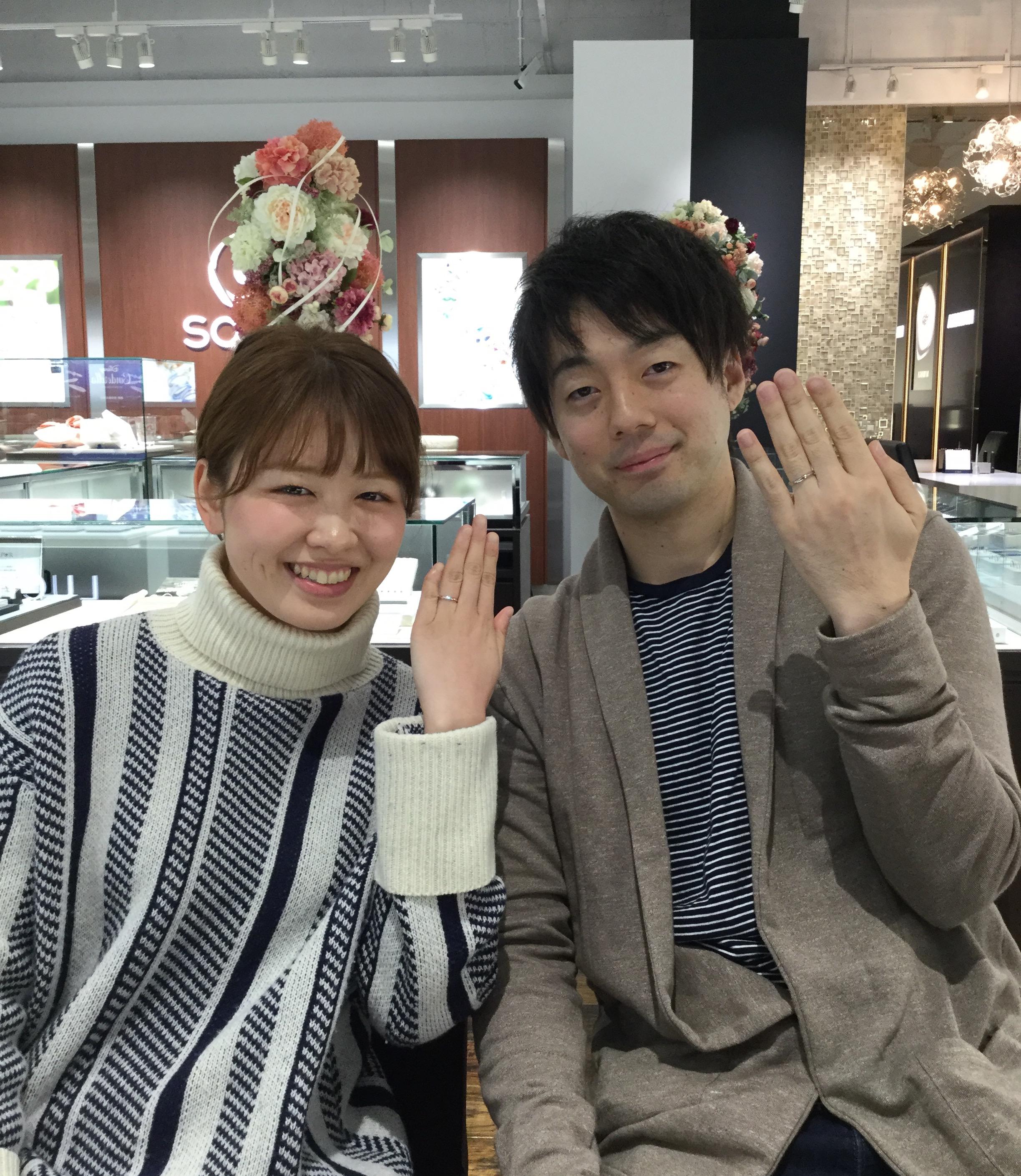 俄(ニワカ)の結婚指輪「雪佳景」❄️(上越市/K様・M様)