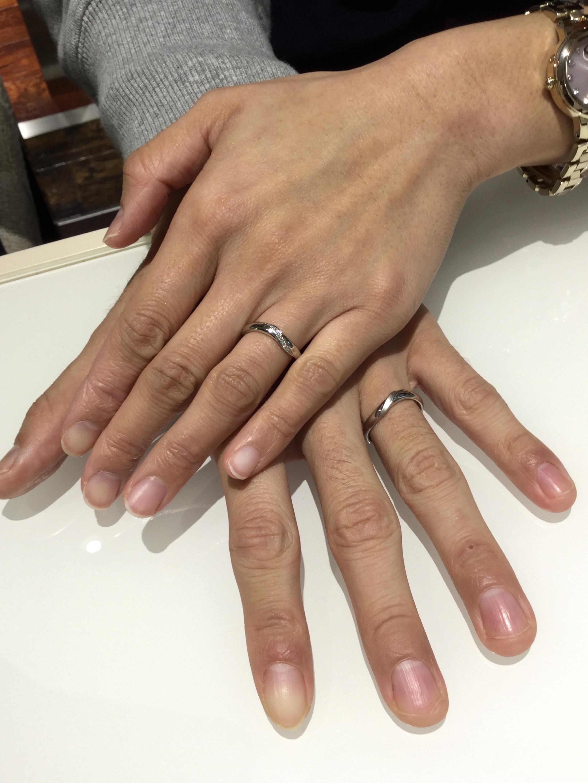 """結婚指輪 幸せのおまじない🍀サムシングブルー """"メイクハート""""(見附市・新潟市/H様・T様)"""