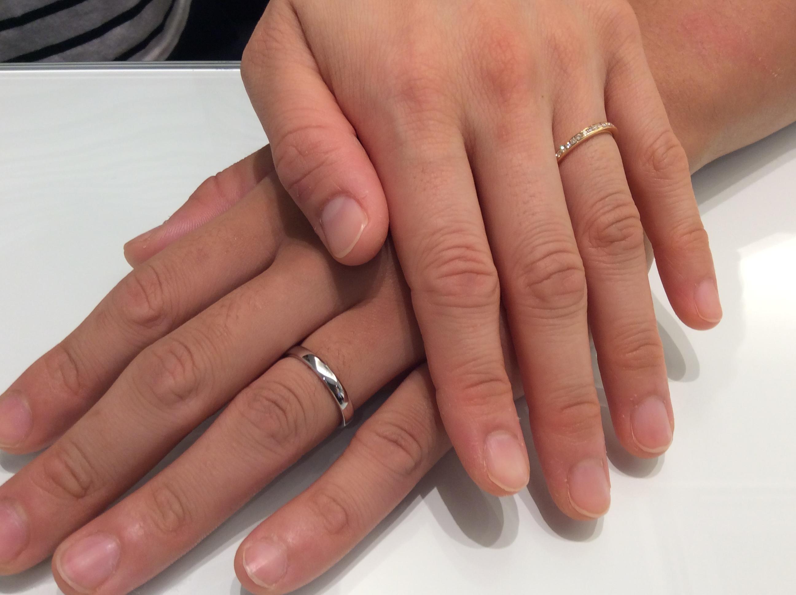 イエローゴールドアレンジのご結婚指輪(長岡市/K様ご夫婦様)