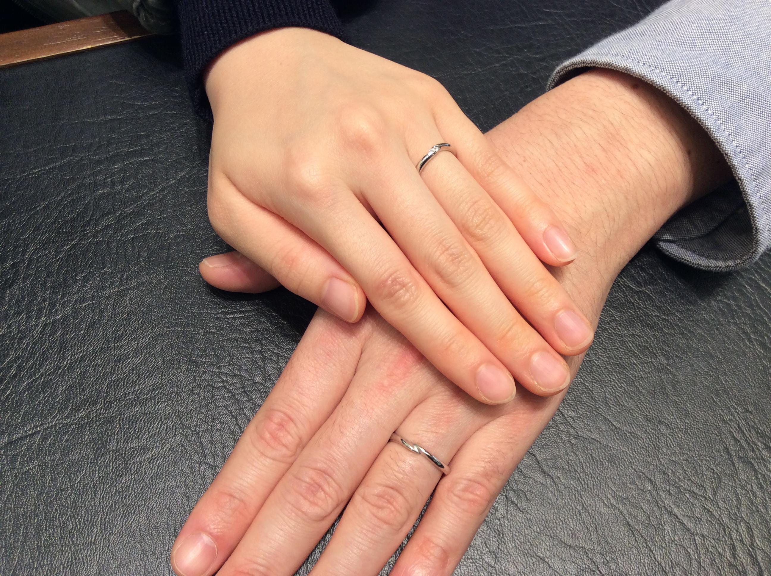 カフェリングの結婚指輪【トロワノワ】 (新潟市/F様ご夫婦様)