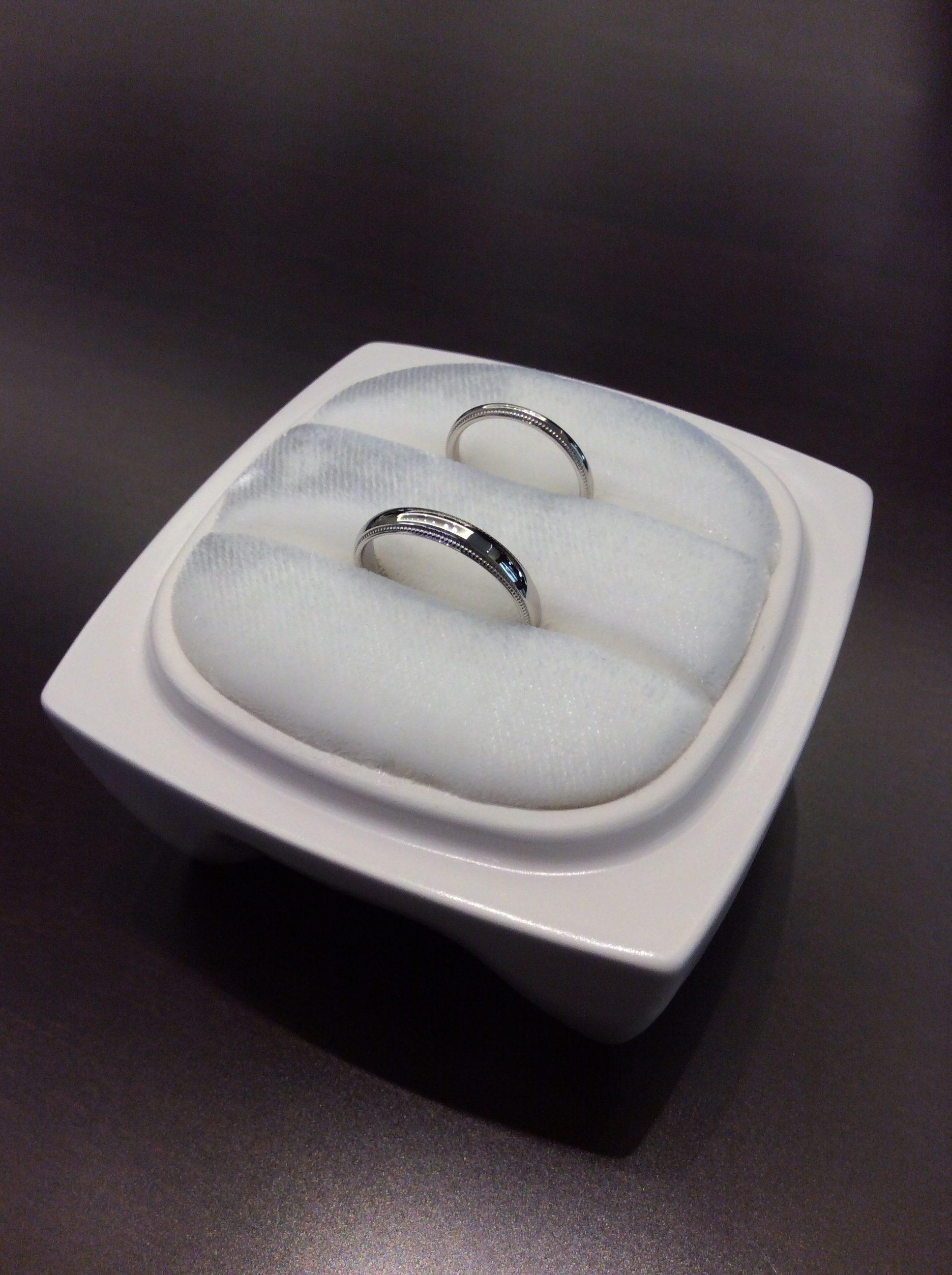 洗練された俄(にわか)の結婚指輪『ことほぎ』をご成約(阿賀野市/K様ご夫婦)
