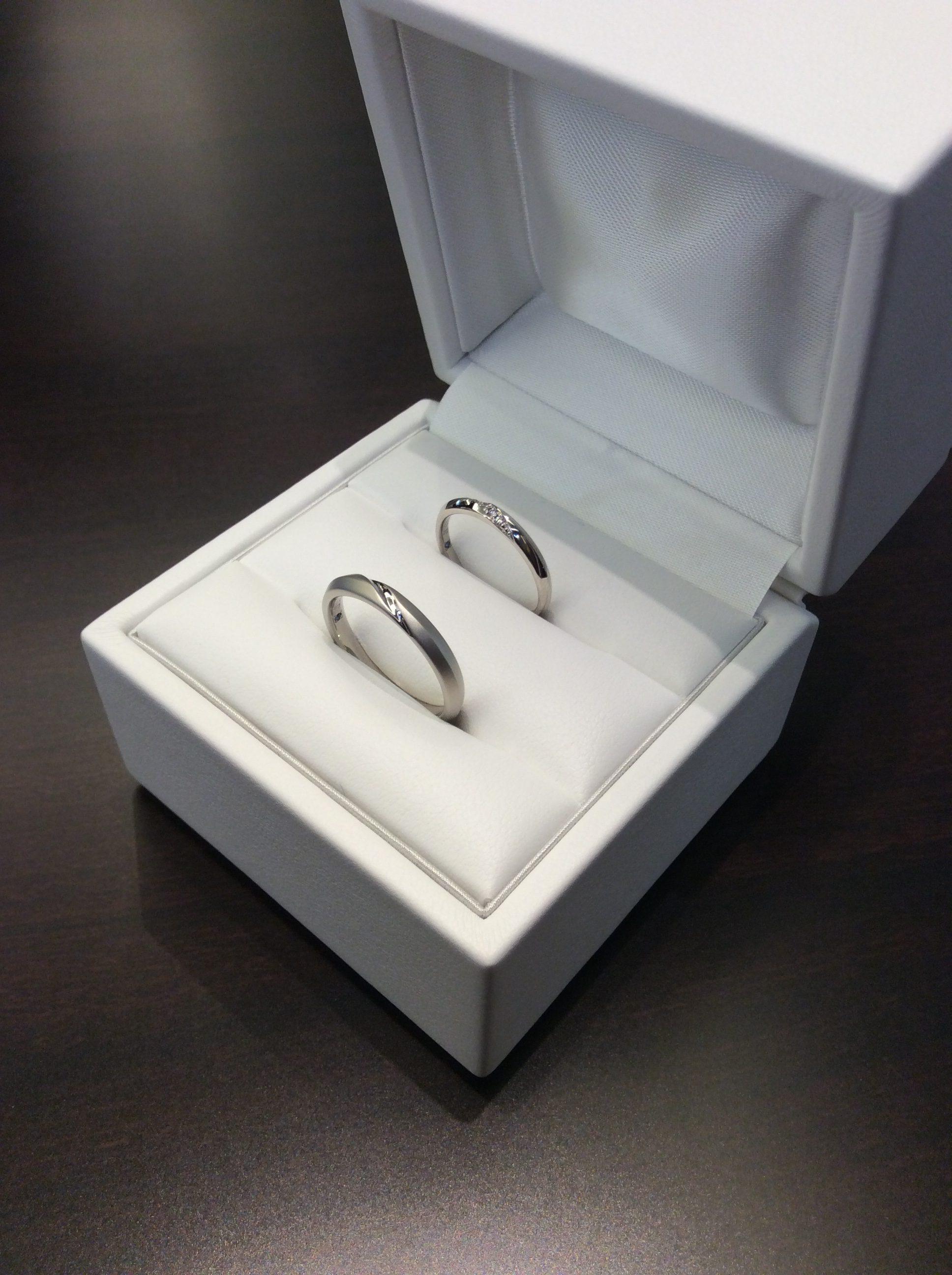Cafe Ring(カフェリング)の結婚指輪『リュミエール』(新潟市/中嶋太一様・寛子様ご夫婦)
