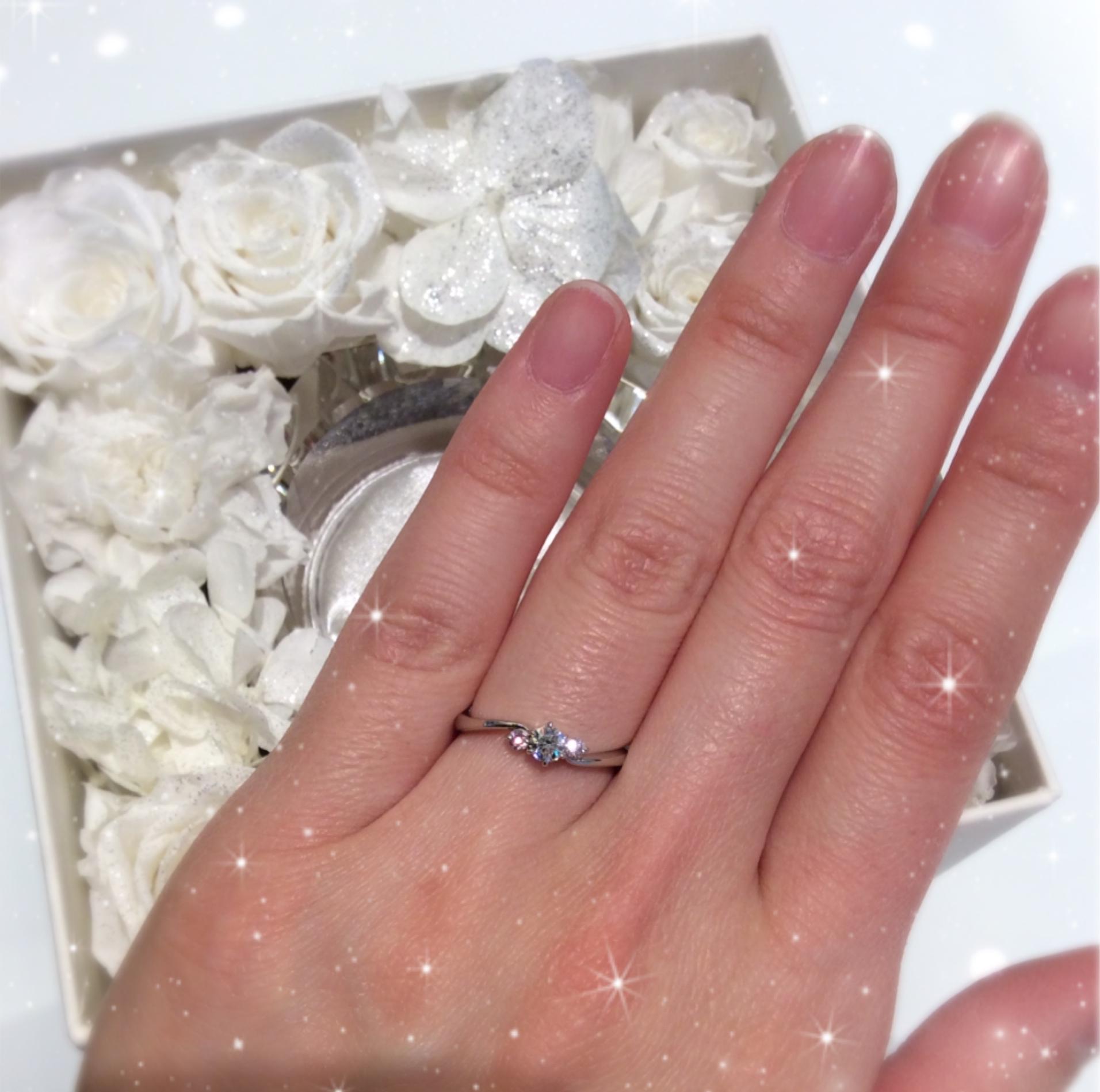 ロイヤルアッシャー限定!ピンクダイヤモンド婚約指輪💍✨