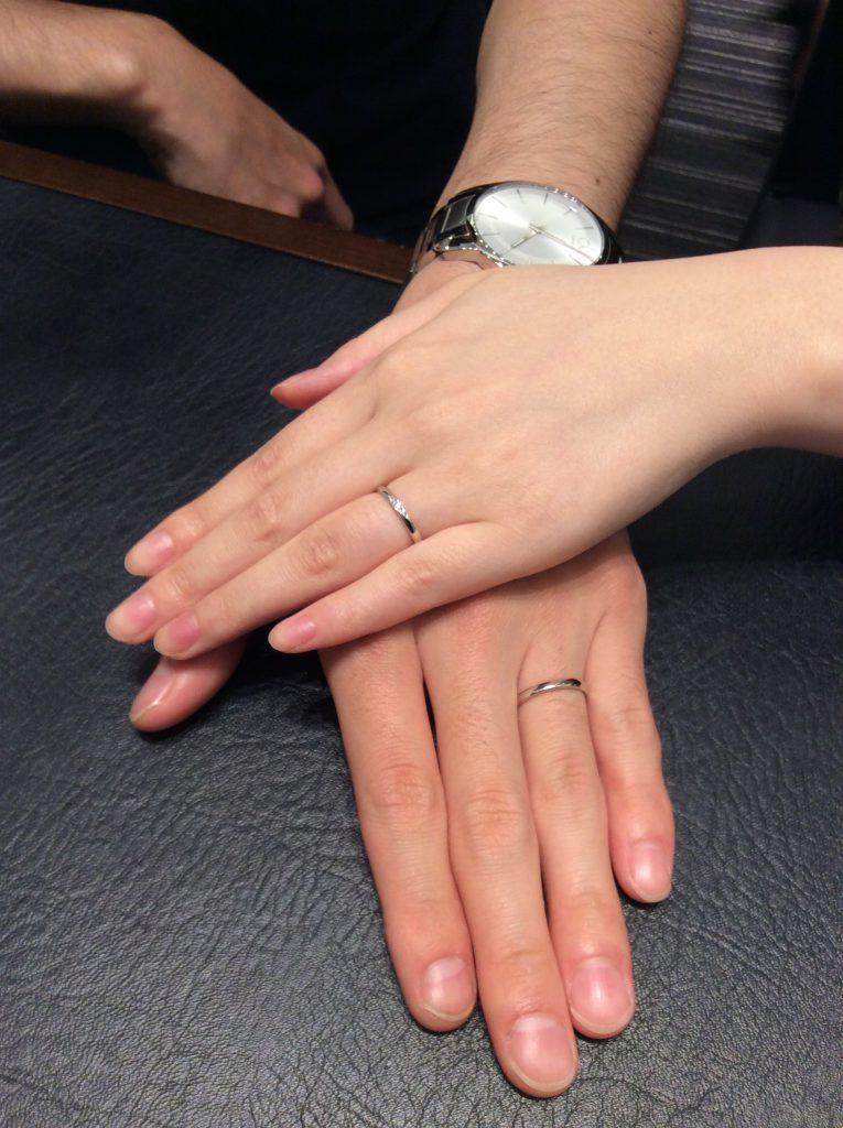 ポンテヴェキオの結婚指輪「モルビド」をご成約(聖籠町/W様S様)