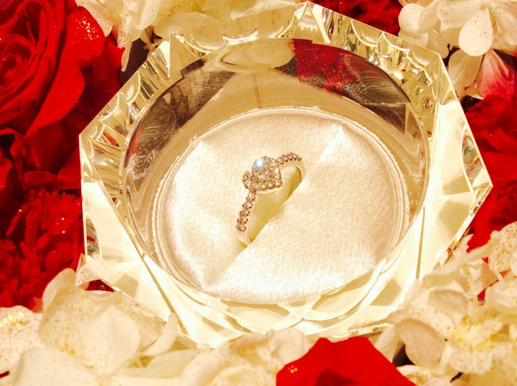 イタリア🇮🇹トレンド💎ポンテヴェキオのハートシェイプ婚約指輪💘