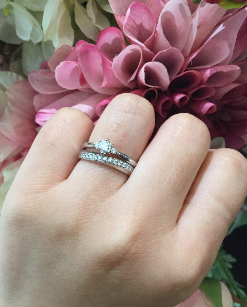 俄 にわか 白鈴 婚約指輪 綺羅 結婚指輪