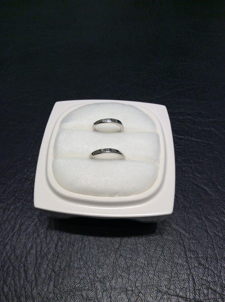 シンプルを追求✨俄(にわか)の結婚指輪「笹舟」(村上市/T様S様)