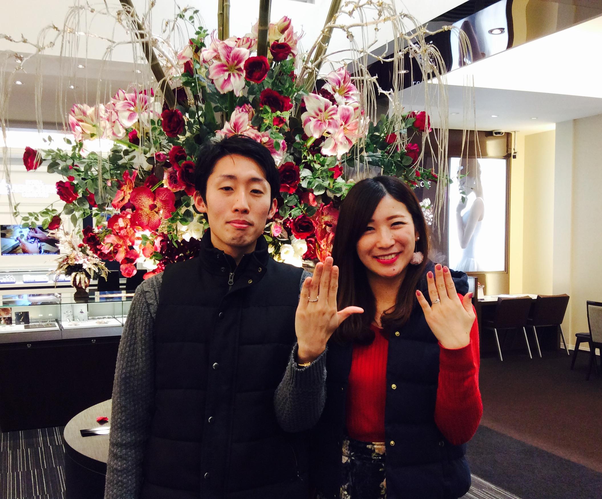 ラザールダイヤモンド💎結婚指輪「カシオペア」(長岡市/長橋様・関根様)