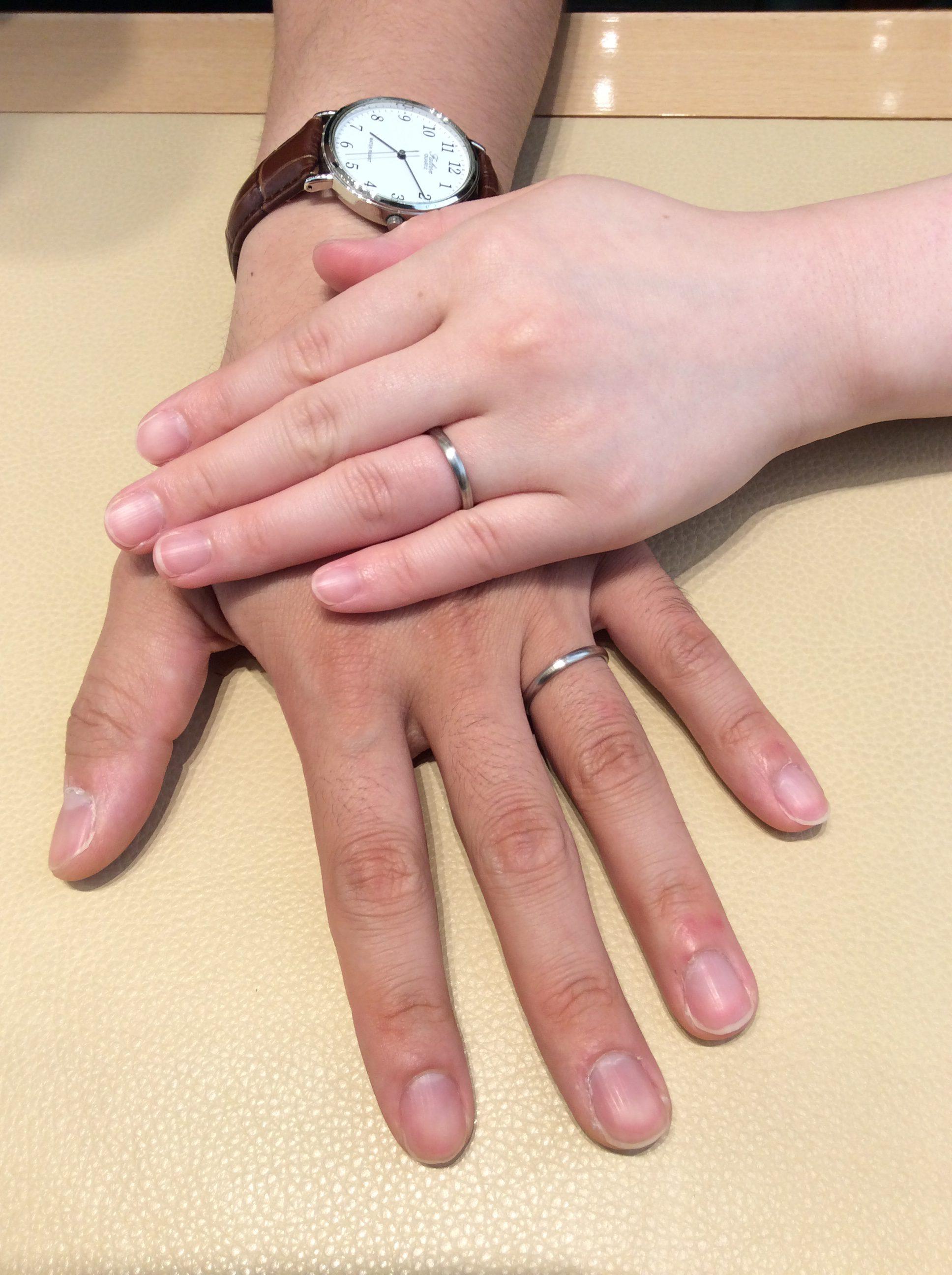お洒落な結婚指輪❗️俄 京杢目の結婚指輪をご成約頂きました(長岡市/酒井様ご夫婦)