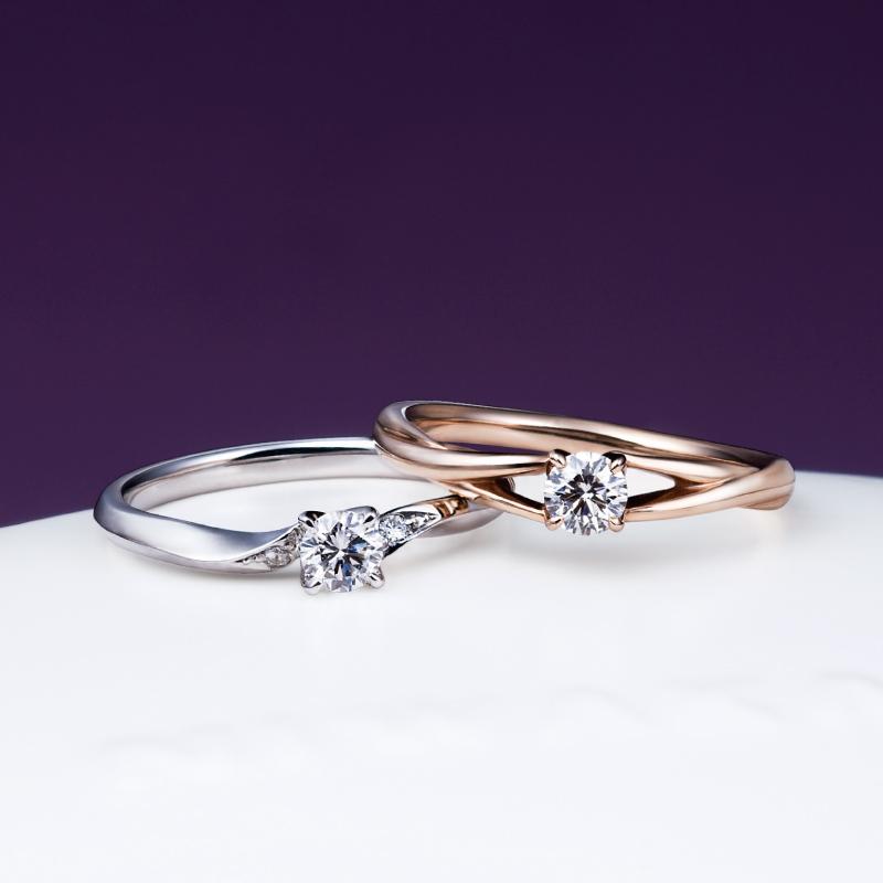 俄(にわか)オススメの婚約指輪「ことのは」