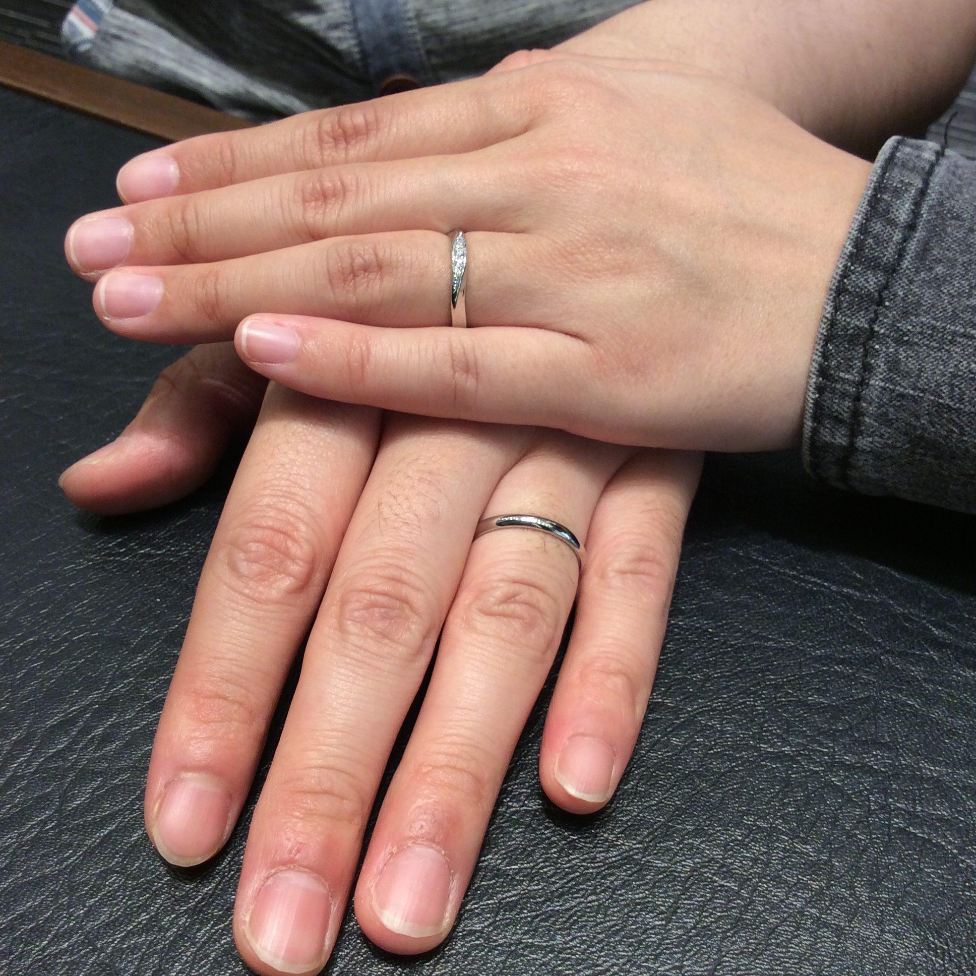 美しく上品✨ロイヤルアッシャーの結婚指輪をご成約(新潟市/T様ご夫婦)